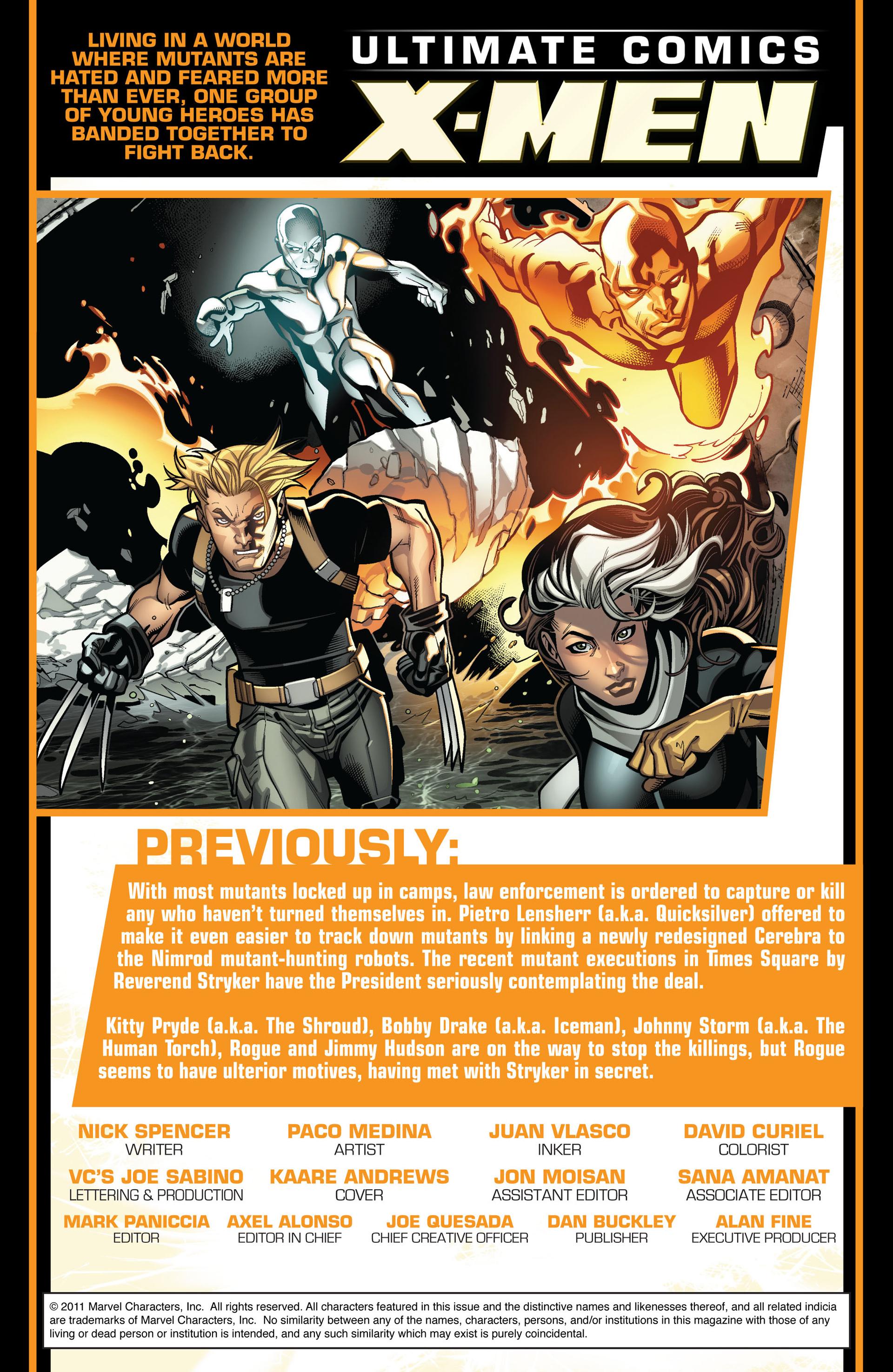 Read online Ultimate Comics X-Men comic -  Issue #5 - 2