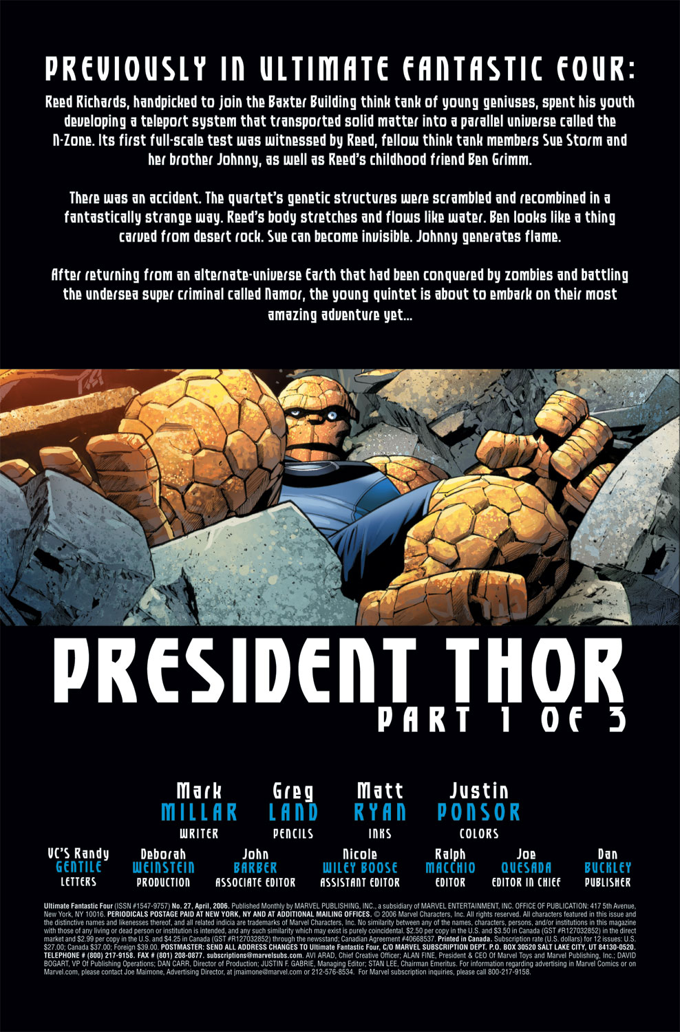Read online Ultimate Fantastic Four (2004) comic -  Issue #27 - 2