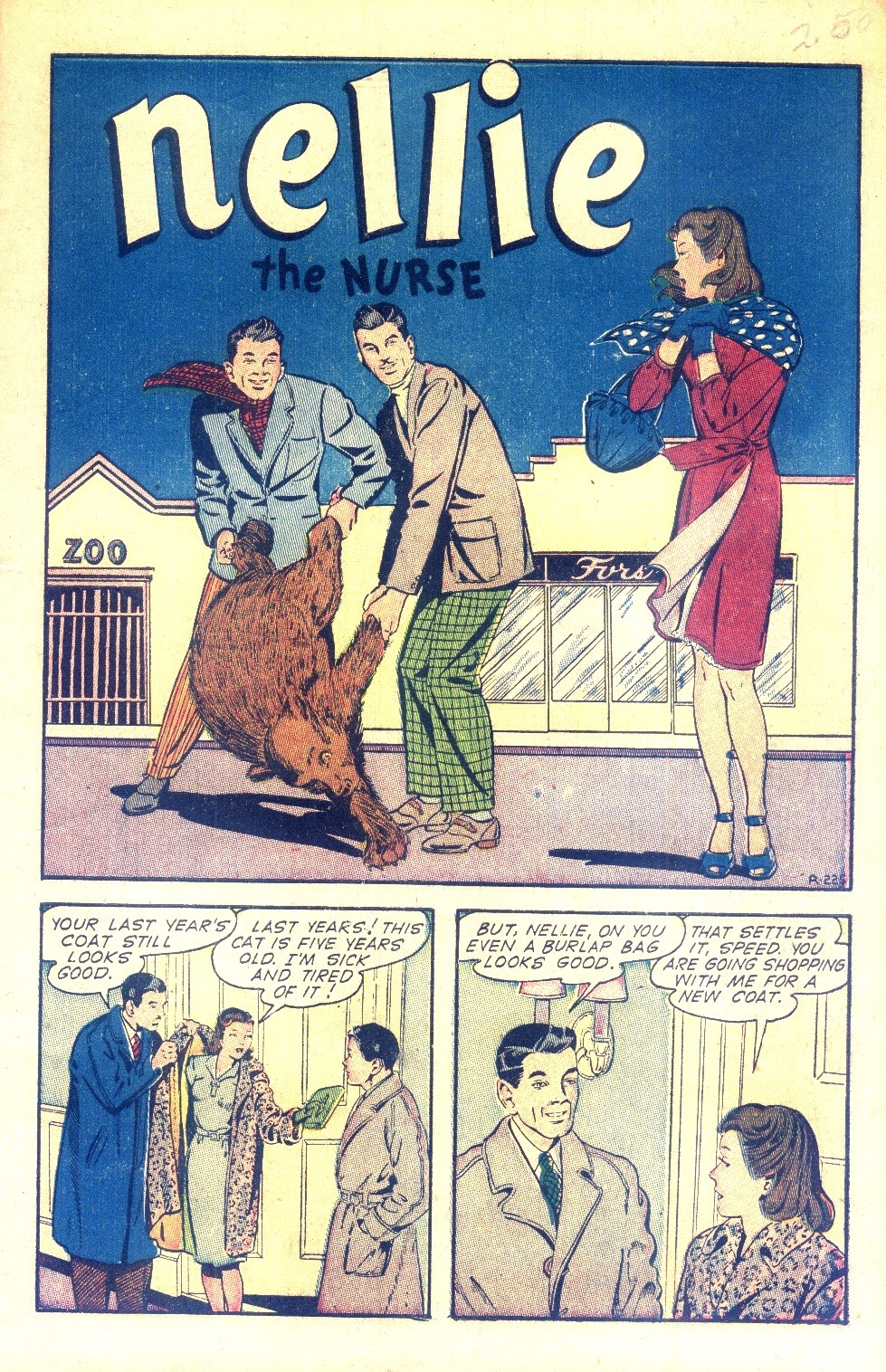Read online Nellie The Nurse (1945) comic -  Issue #2 - 3