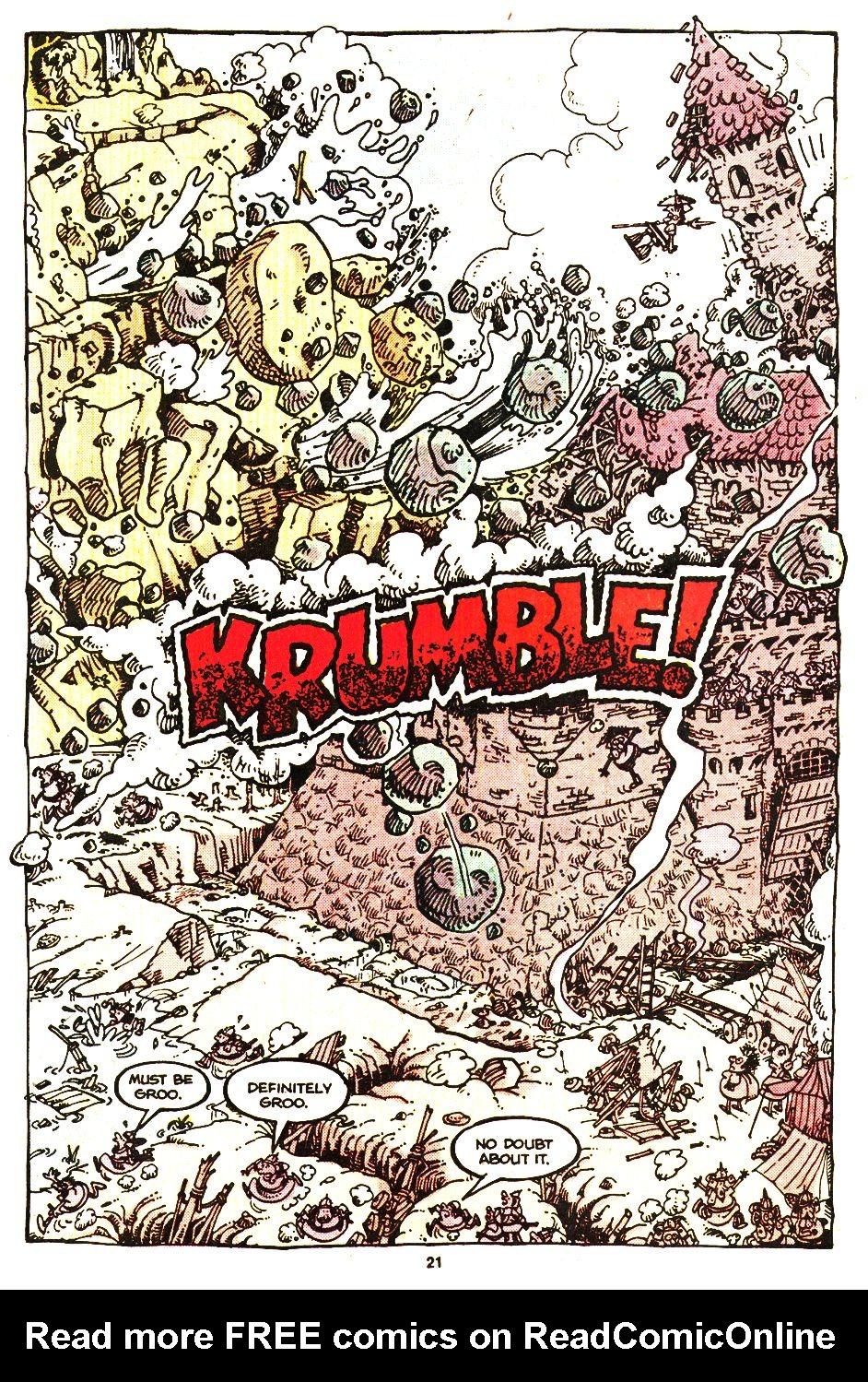 Read online Sergio Aragonés Groo the Wanderer comic -  Issue #20 - 21