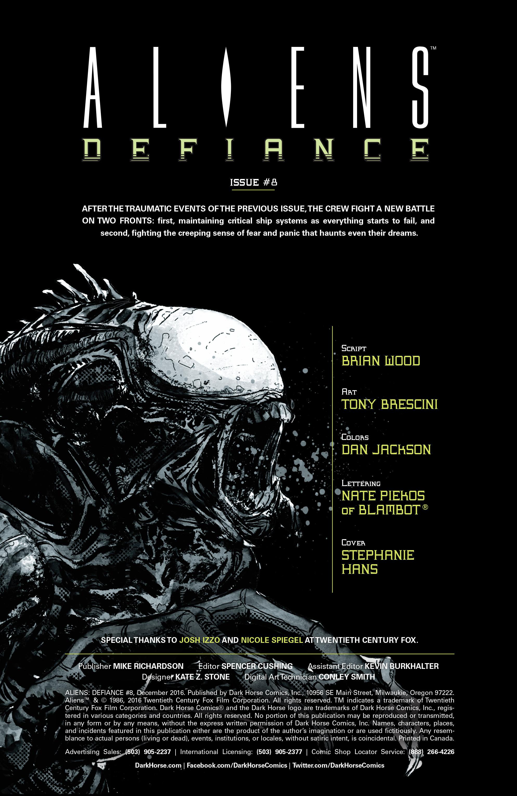 Read online Aliens: Defiance comic -  Issue #8 - 2
