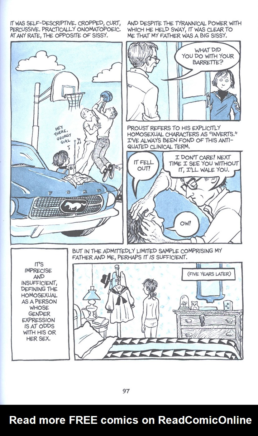 Read online Fun Home: A Family Tragicomic comic -  Issue # TPB - 104