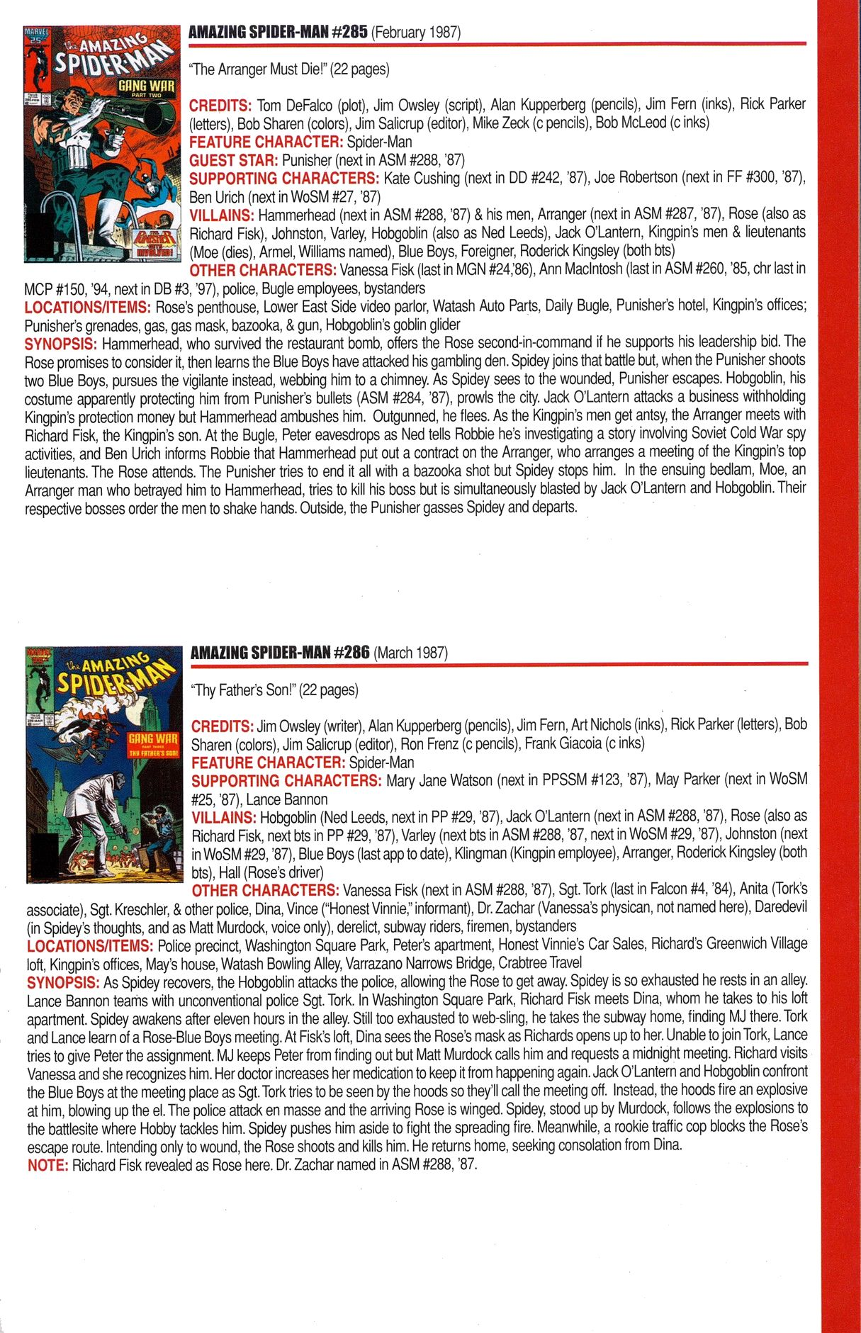 Read online Official Index to the Marvel Universe comic -  Issue #6 - 23