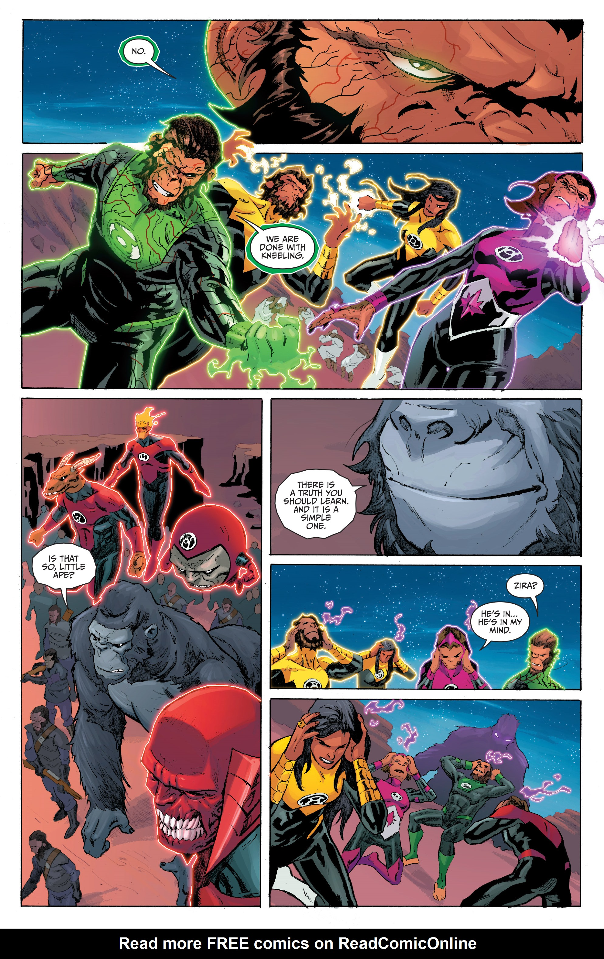 Read online Planet of the Apes/Green Lantern comic -  Issue #5 - 6