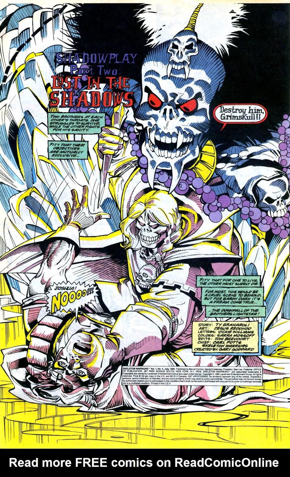 Skeleton Warriors Issue #4 #4 - English 2