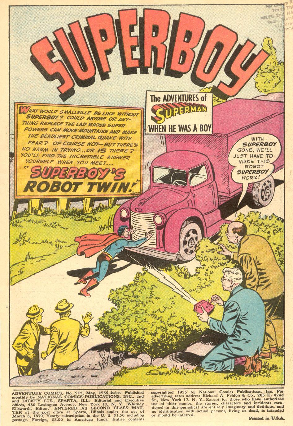Read online Adventure Comics (1938) comic -  Issue #212 - 3