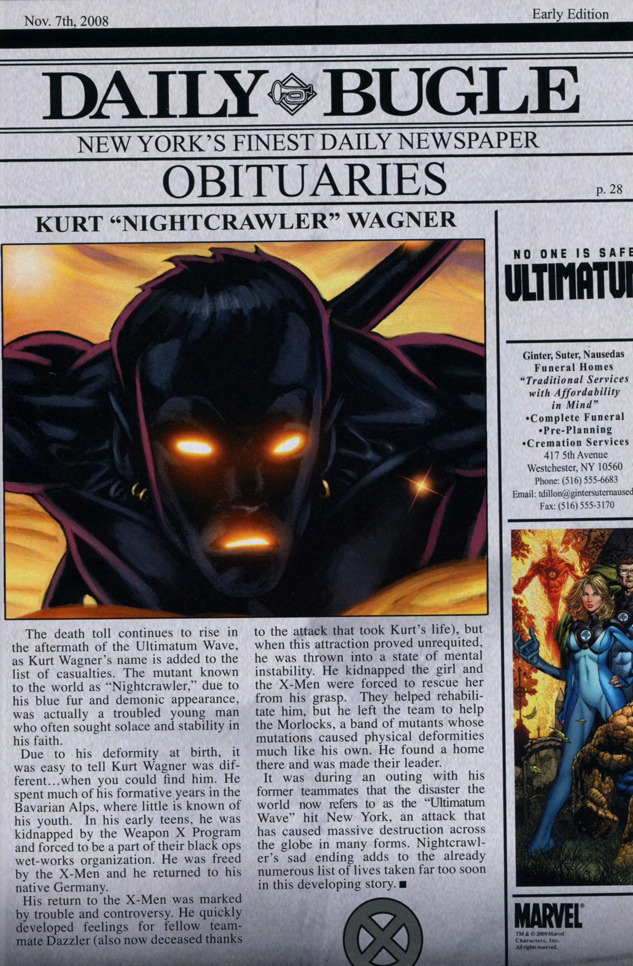 Read online Ultimatum: X-Men Requiem comic -  Issue # Full - 30