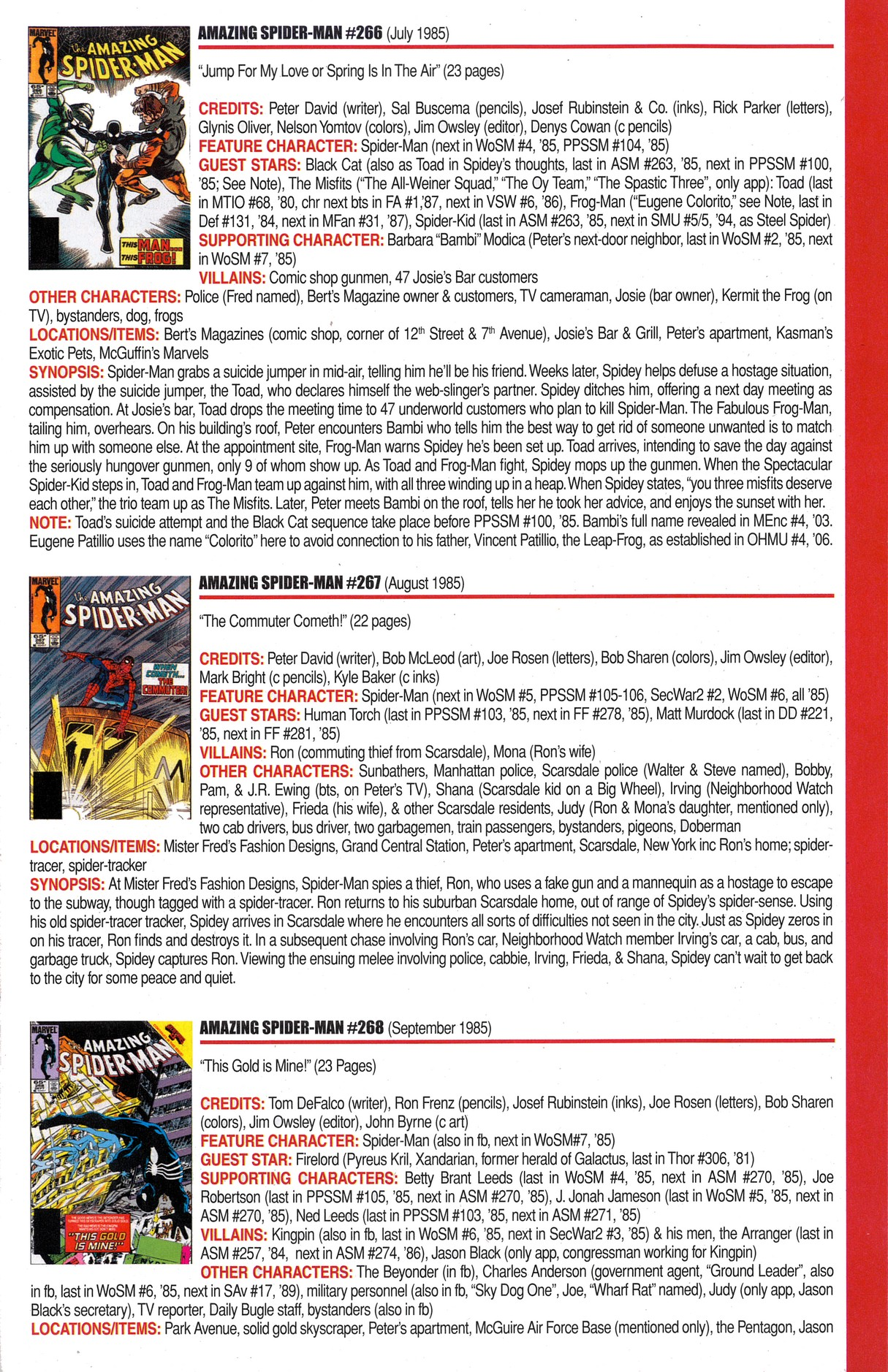Read online Official Index to the Marvel Universe comic -  Issue #6 - 13
