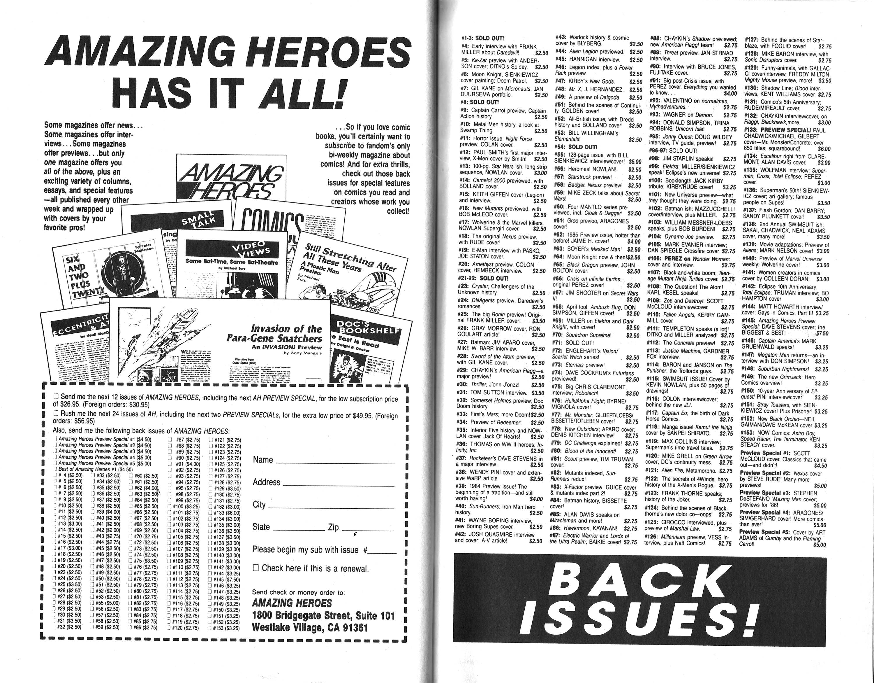 Read online Amazing Heroes comic -  Issue #164 - 72