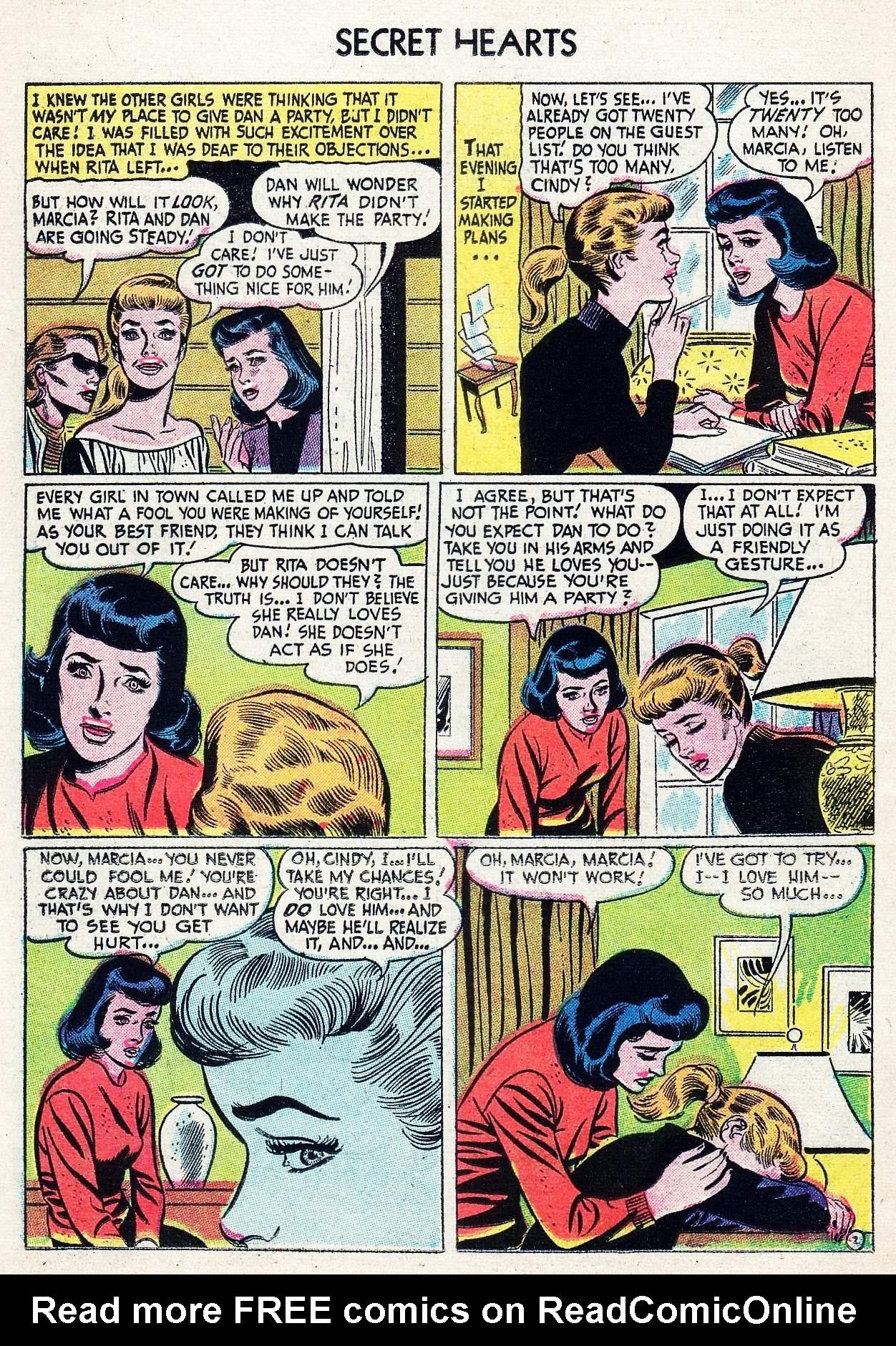 Read online Secret Hearts comic -  Issue #29 - 12