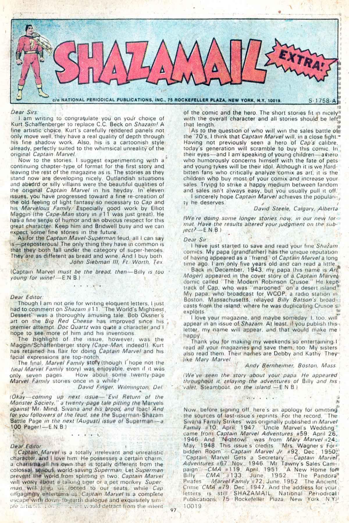 Read online Shazam! (1973) comic -  Issue #13 - 98