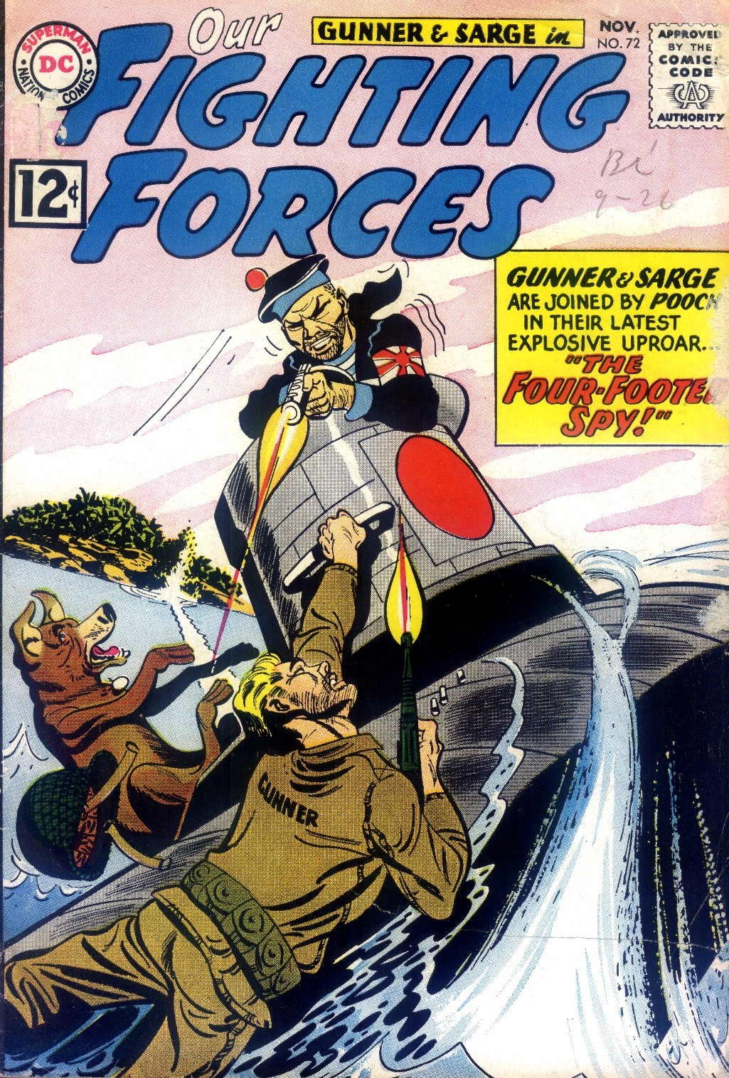 Our Fighting Forces (1954) issue 72 - Page 1