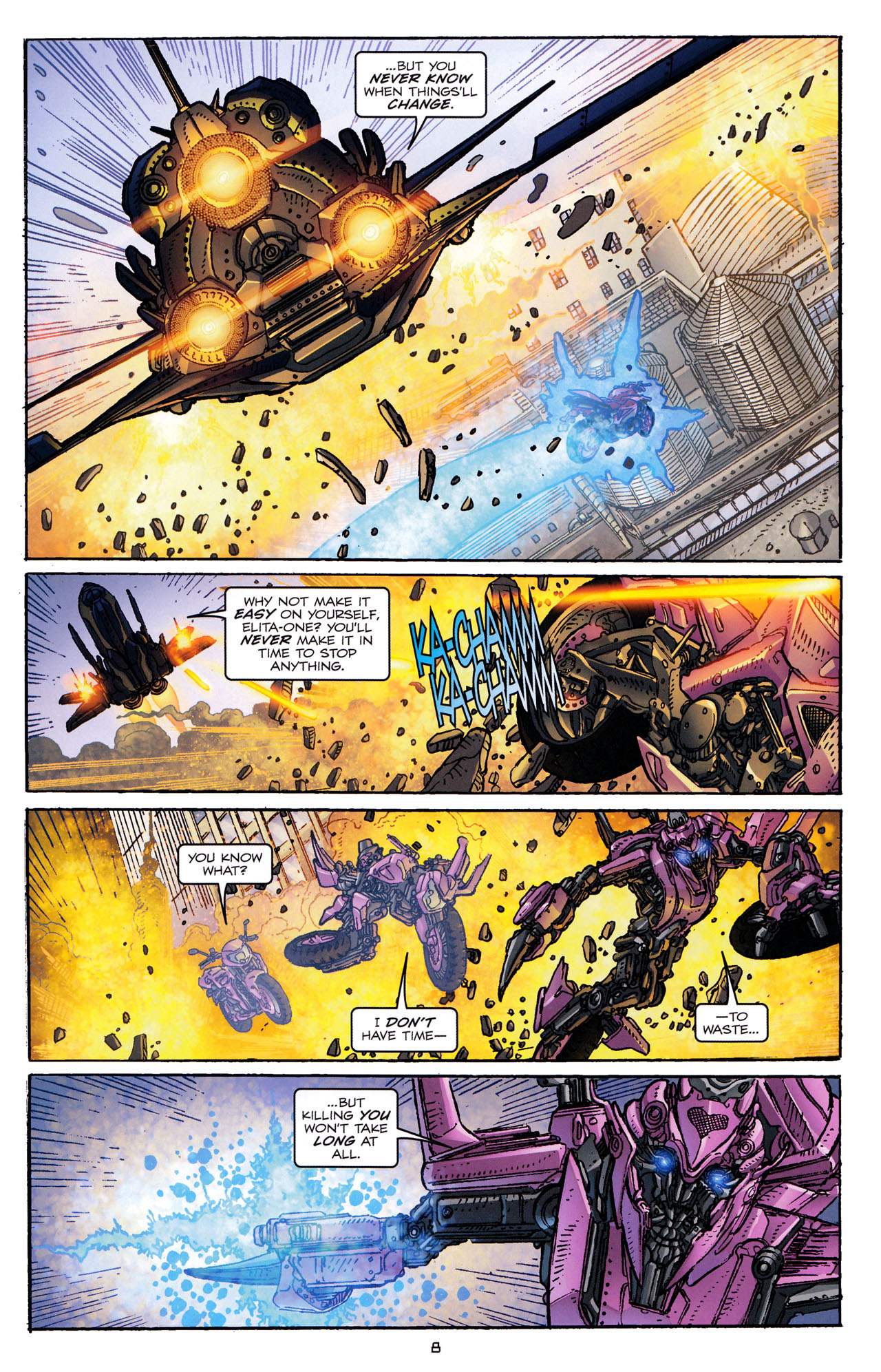 Read online Transformers: Dark of the Moon Rising Storm comic -  Issue #4 - 9
