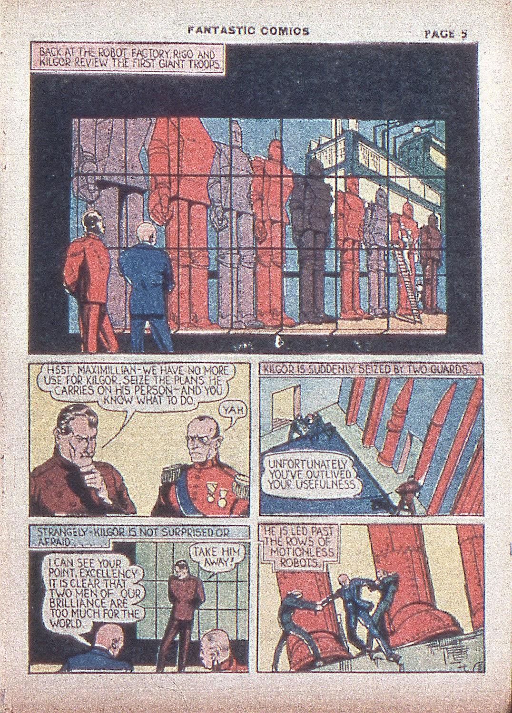Read online Fantastic Comics comic -  Issue #4 - 7