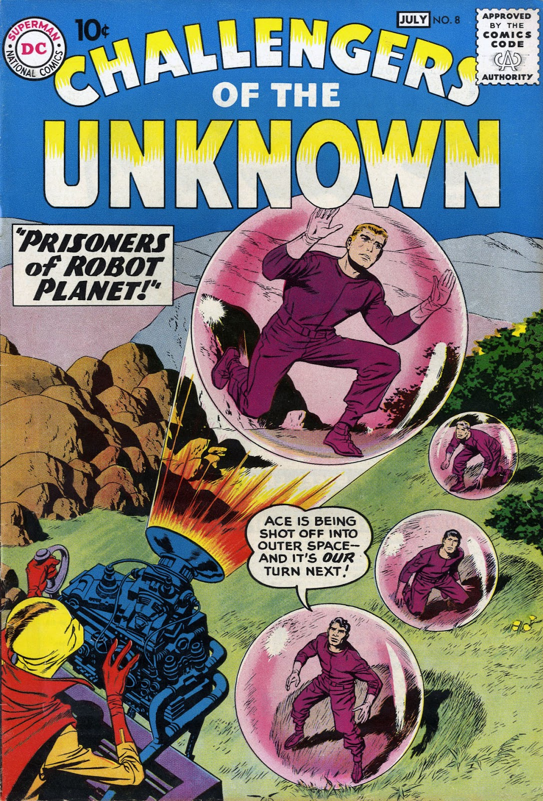 Challengers of the Unknown (1958) 8 Page 1