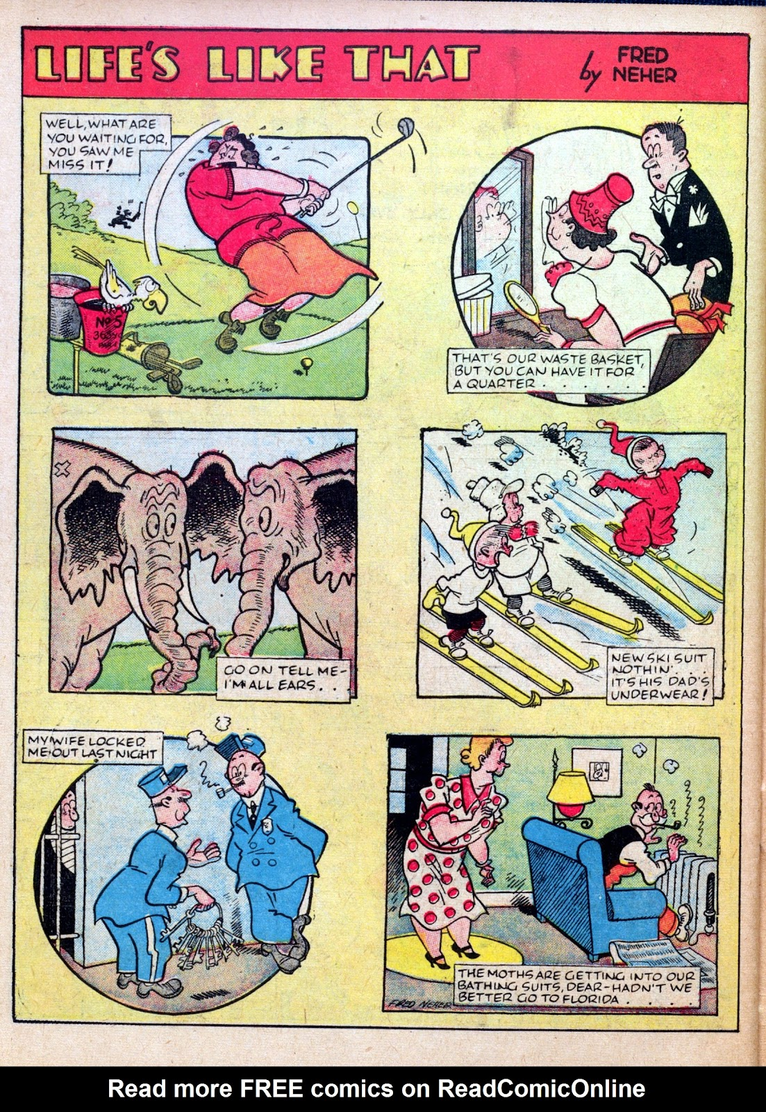 Read online Famous Funnies comic -  Issue #45 - 58