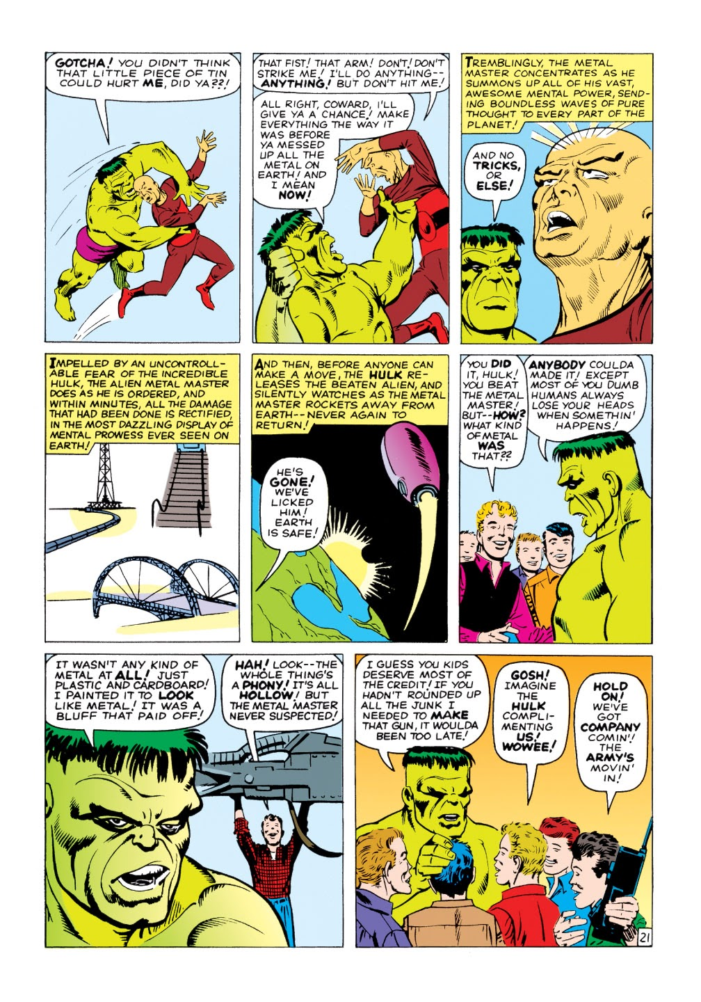 Read online Marvel Masterworks: The Incredible Hulk comic -  Issue # TPB 1 (Part 2) - 50
