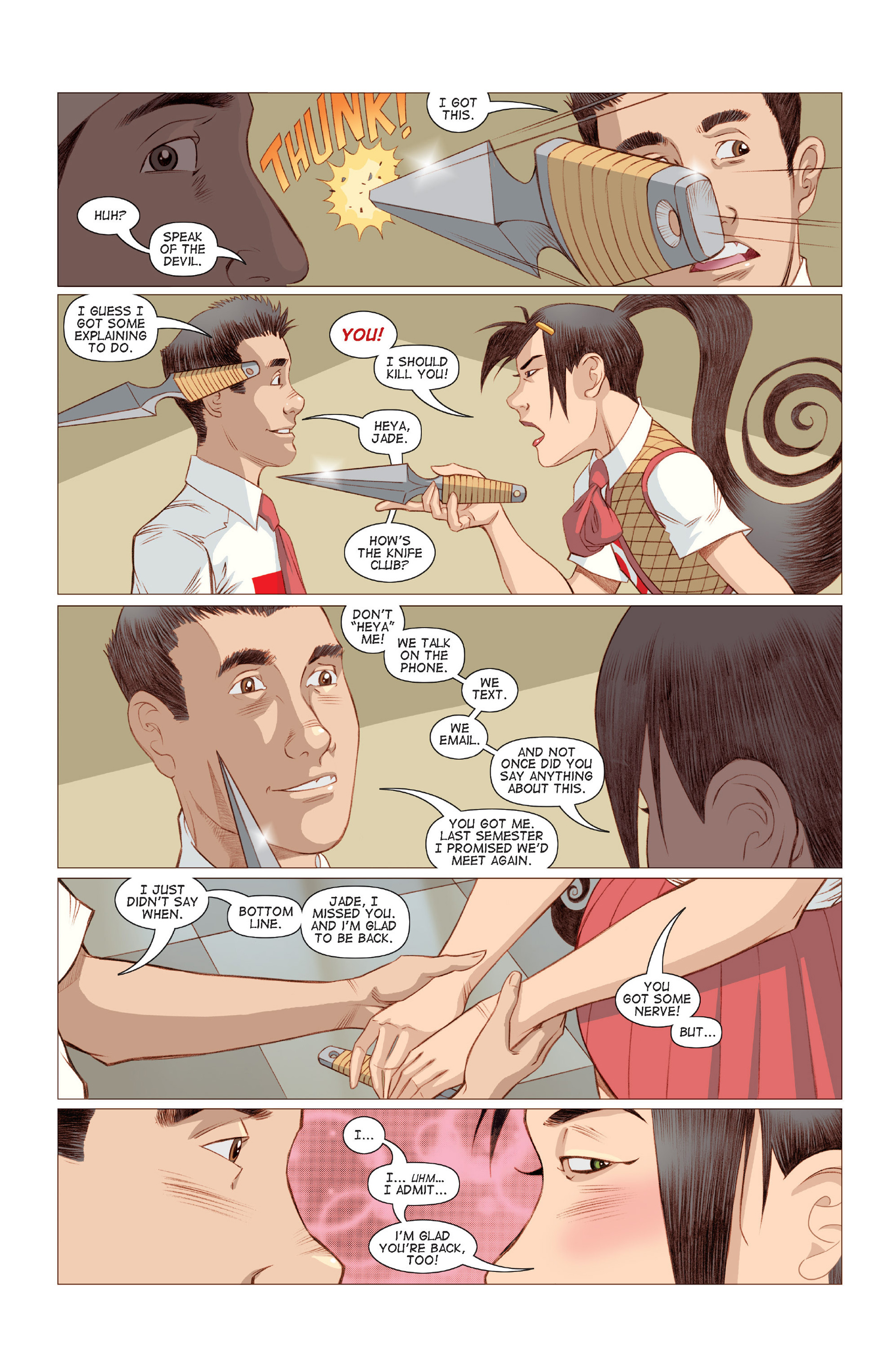 Read online Five Weapons comic -  Issue #6 - 9
