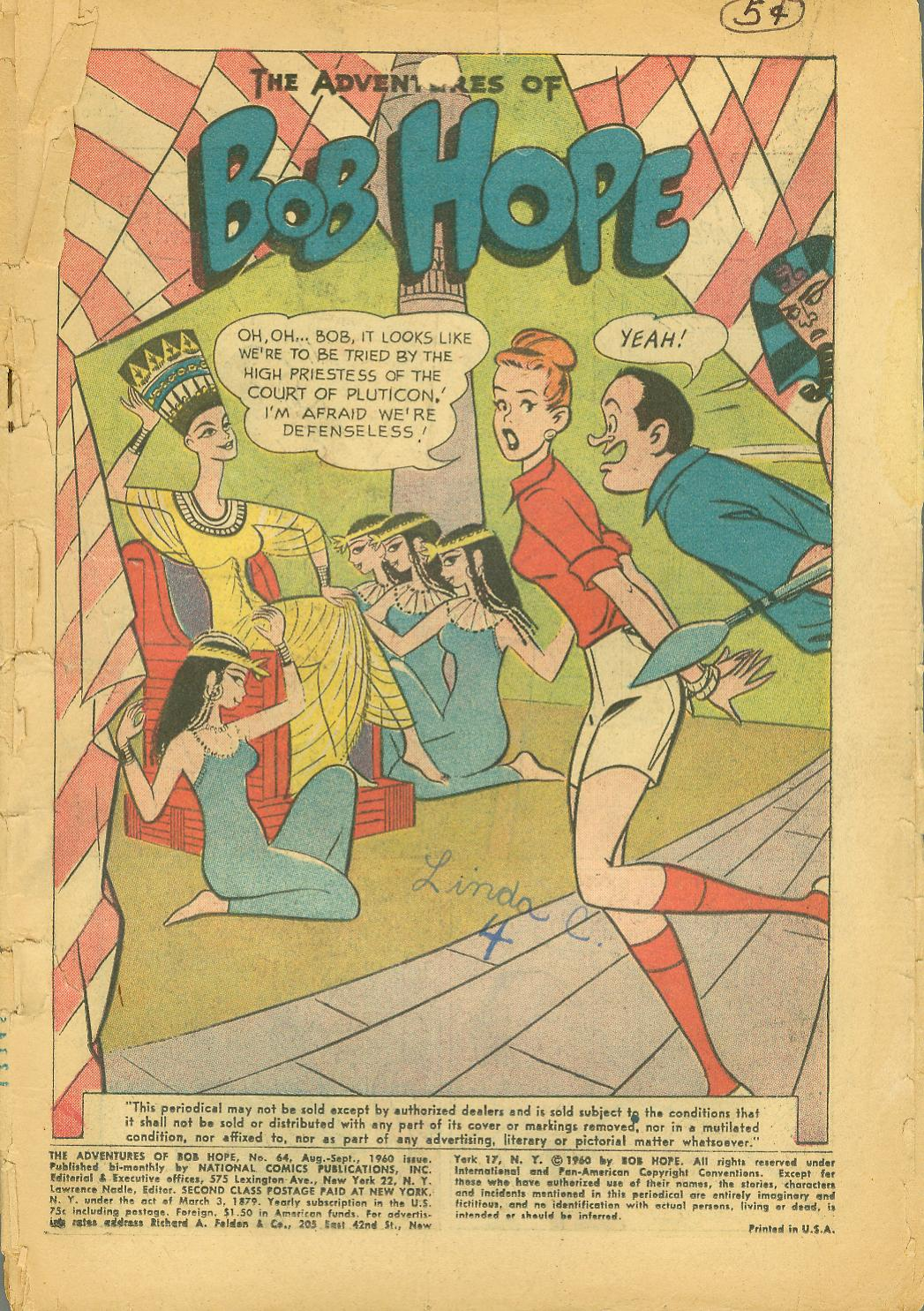 The Adventures of Bob Hope issue 64 - Page 3