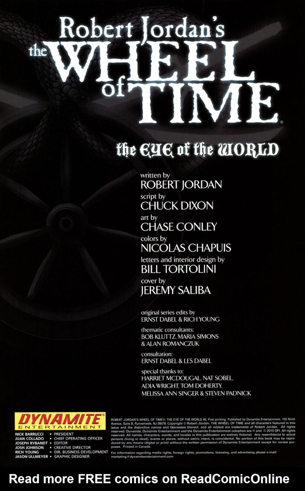 Comic Robert Jordan's Wheel of Time: The Eye of the World issue 7