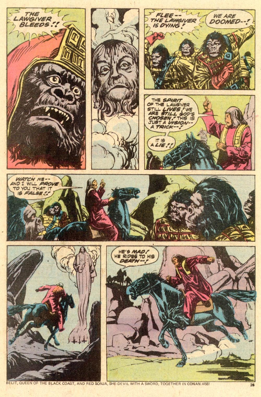 Read online Adventures on the Planet of the Apes comic -  Issue #10 - 16