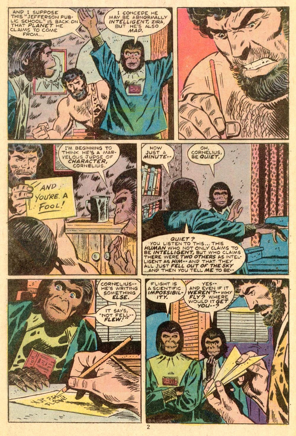 Read online Adventures on the Planet of the Apes comic -  Issue #3 - 3