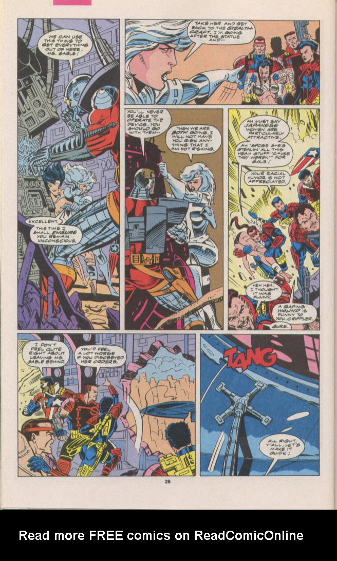 Read online Silver Sable and the Wild Pack comic -  Issue #7 - 20