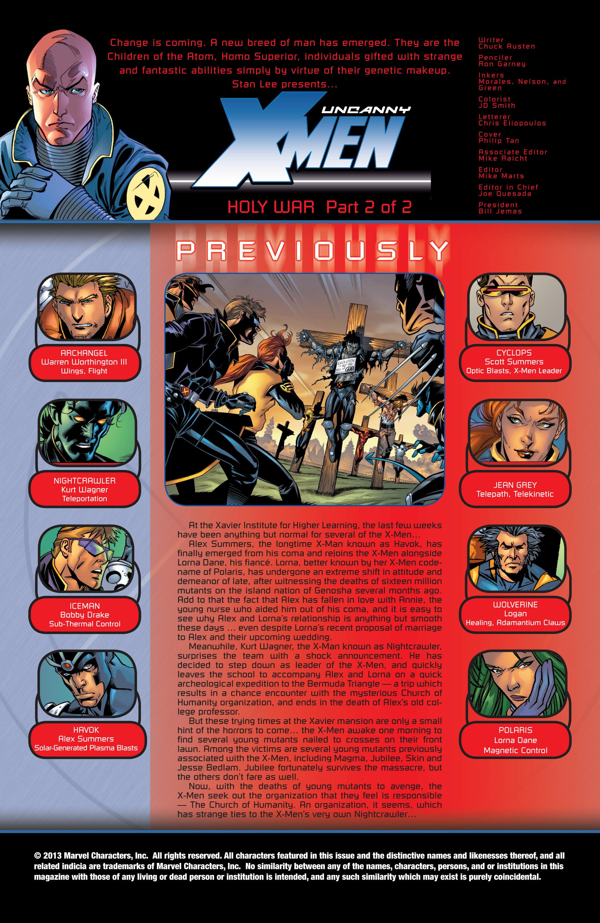 Read online Uncanny X-Men (1963) comic -  Issue #424 - 2