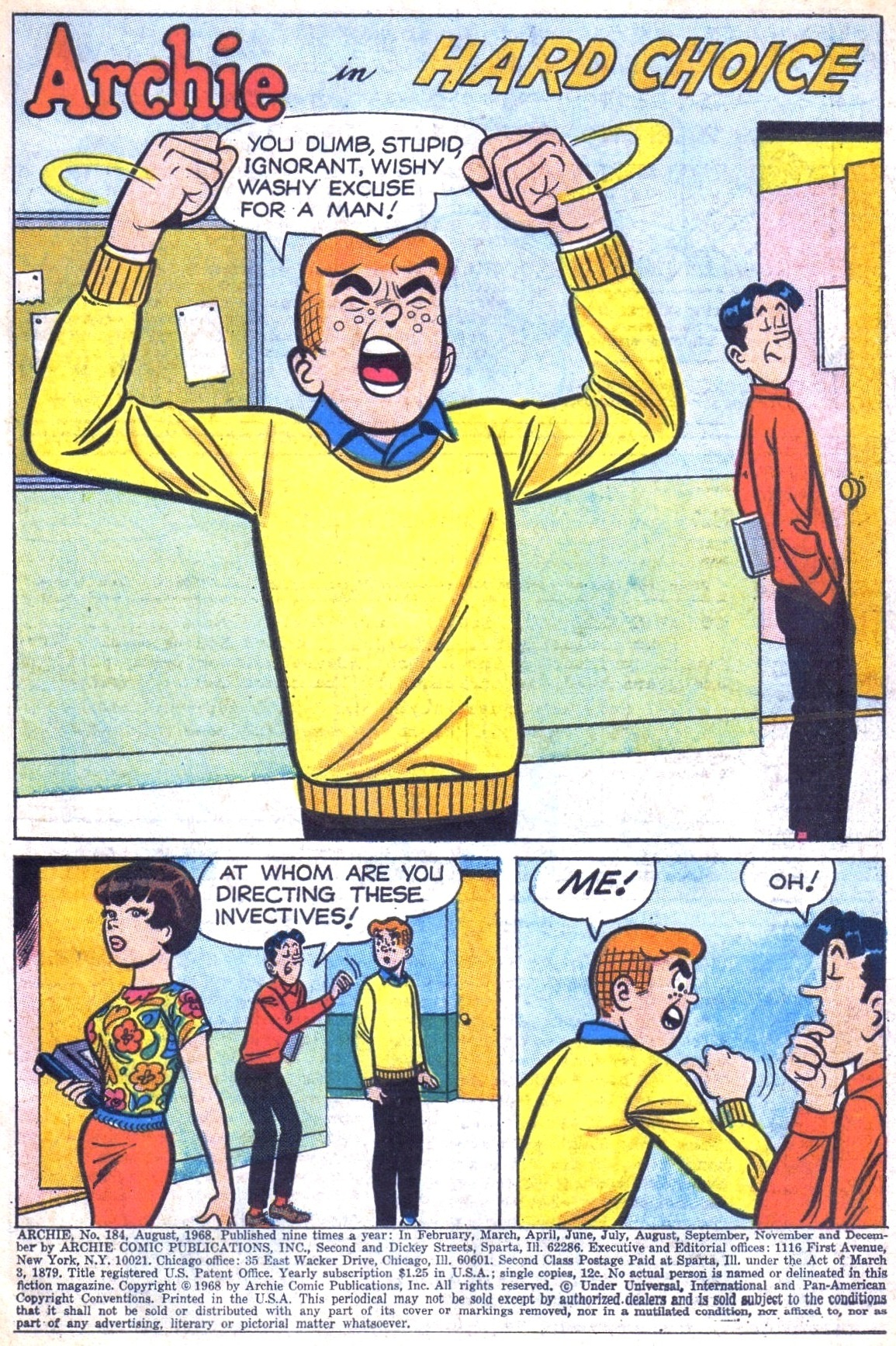 Read online Archie (1960) comic -  Issue #184 - 3