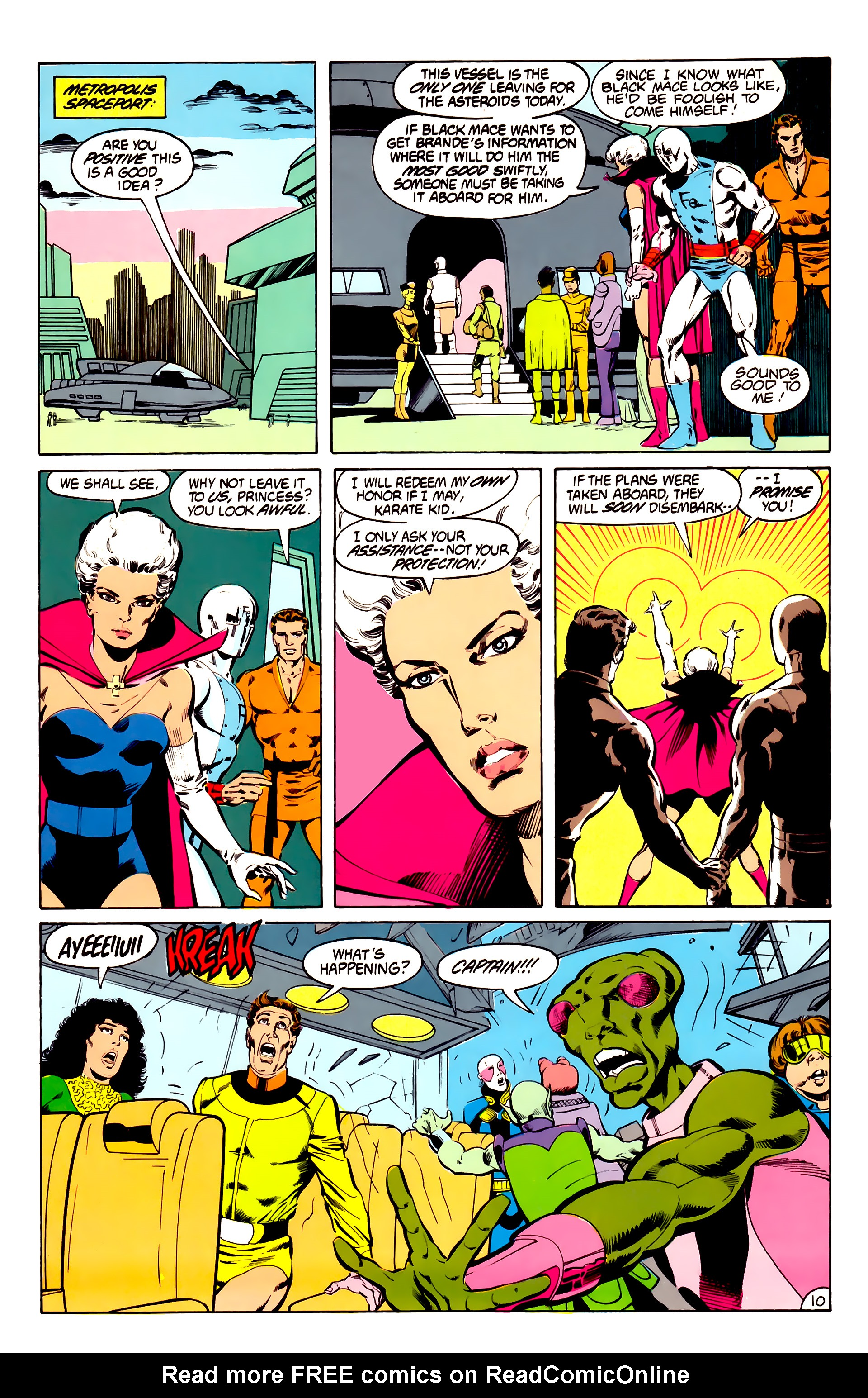 Legion of Super-Heroes (1984) 31 Page 10