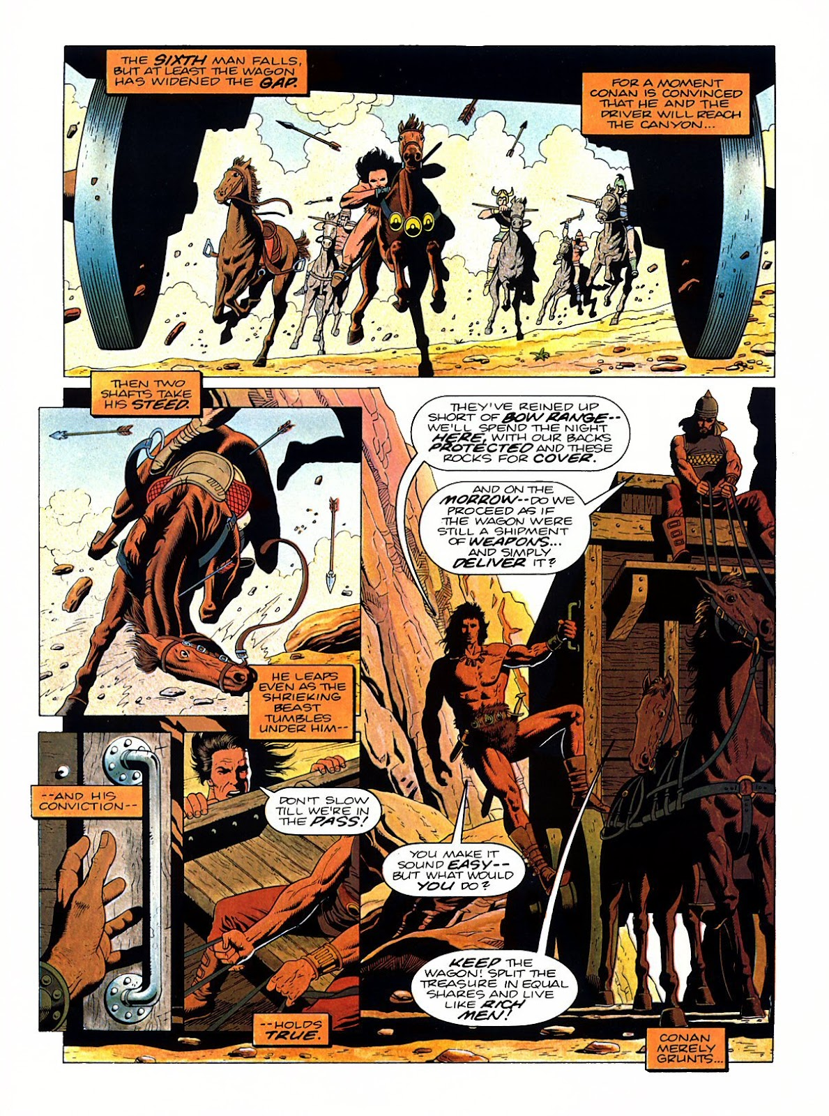 Read online Marvel Graphic Novel: Conan the Barbarian: The Skull of Set comic -  Issue # Full - 15
