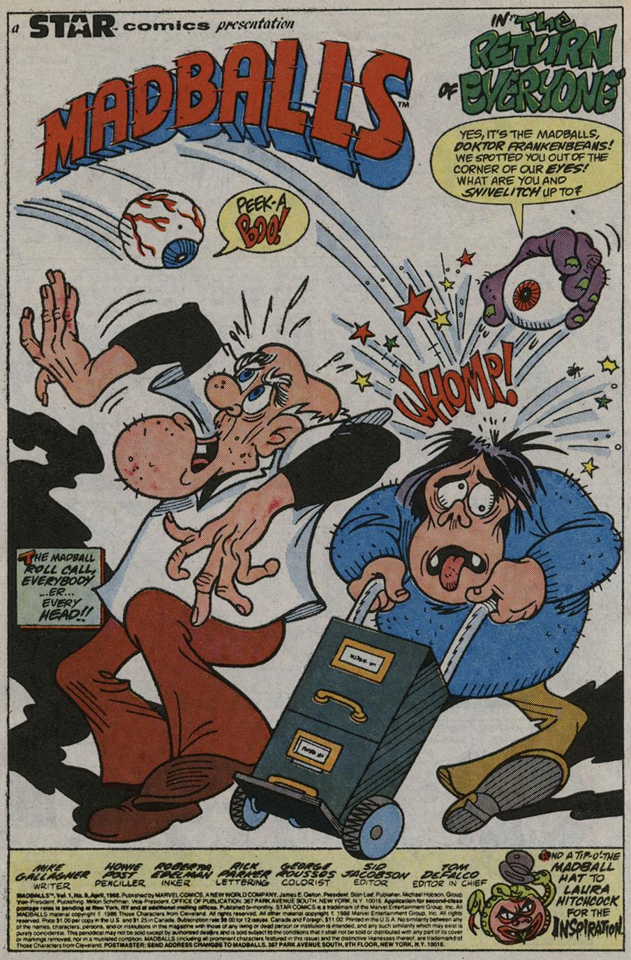 Madballs issue 9 - Page 3