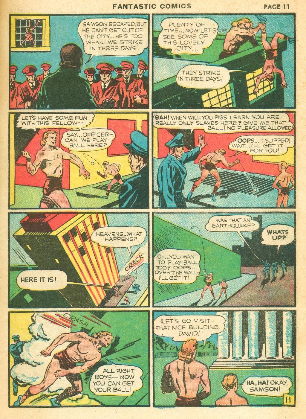 Read online Fantastic Comics comic -  Issue #12 - 13