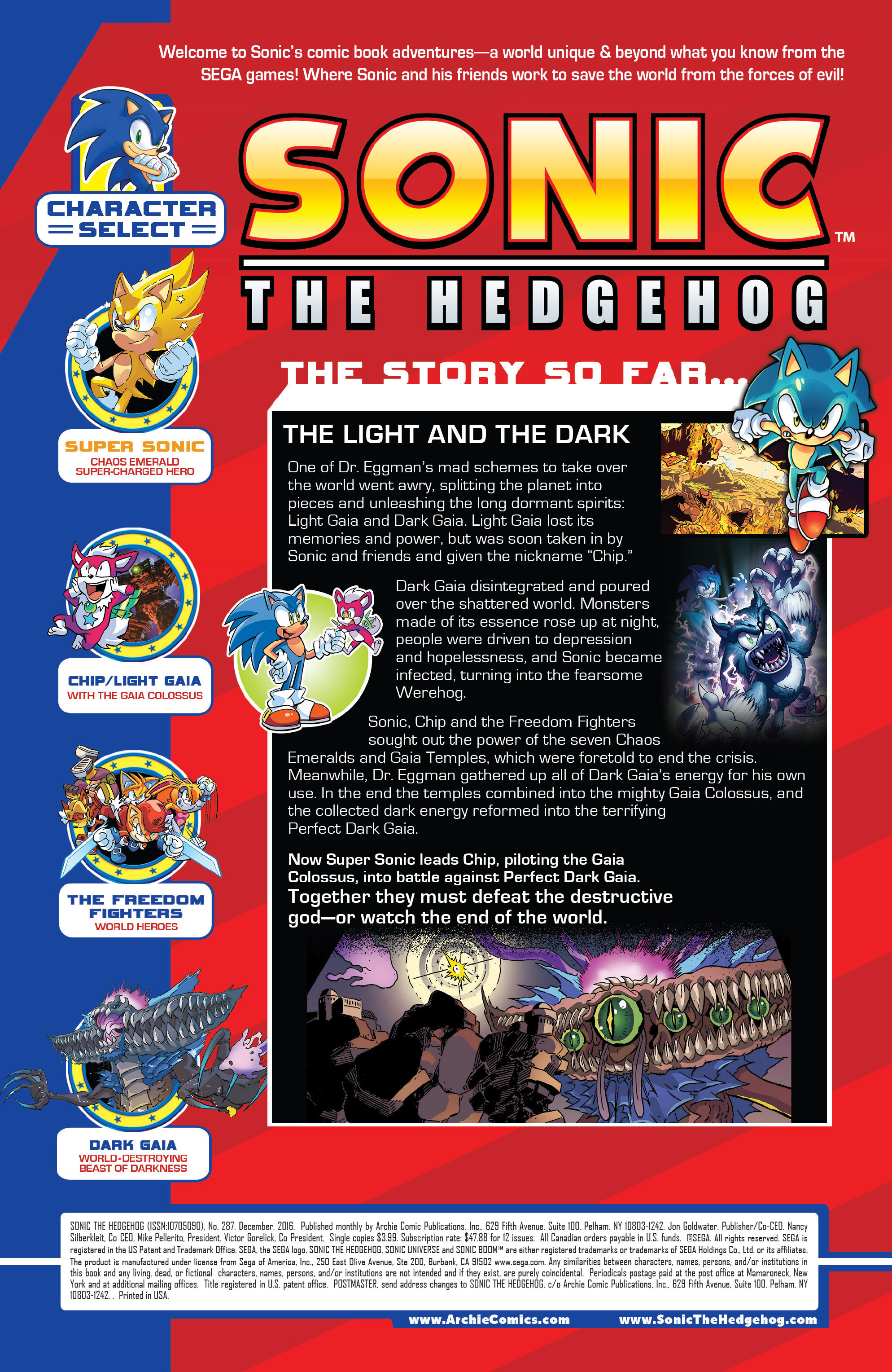 Read online Sonic The Hedgehog comic -  Issue #287 - 2