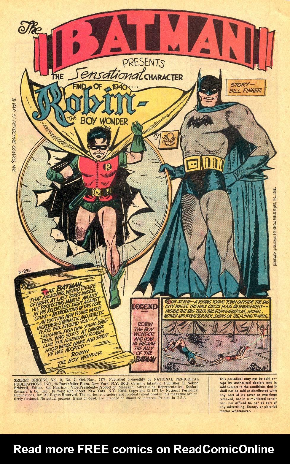 Read online Secret Origins (1973) comic -  Issue #7 - 3