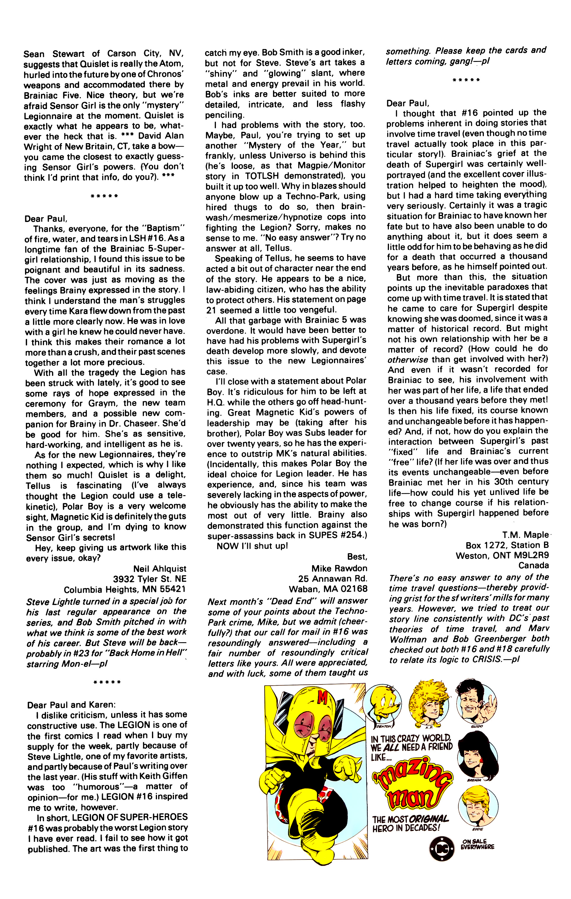 Legion of Super-Heroes (1984) 21 Page 26