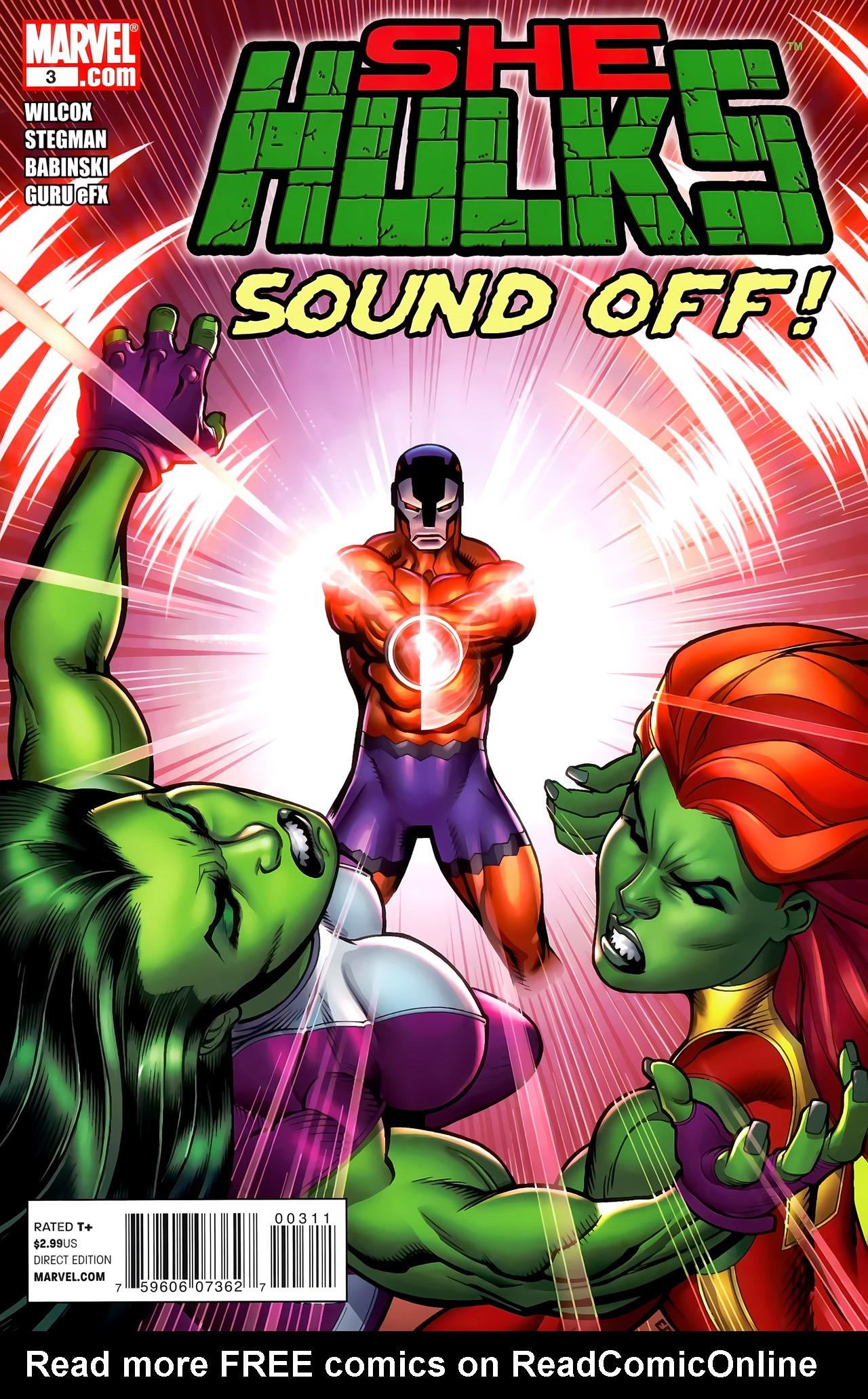Read online She-Hulks comic -  Issue #3 - 1