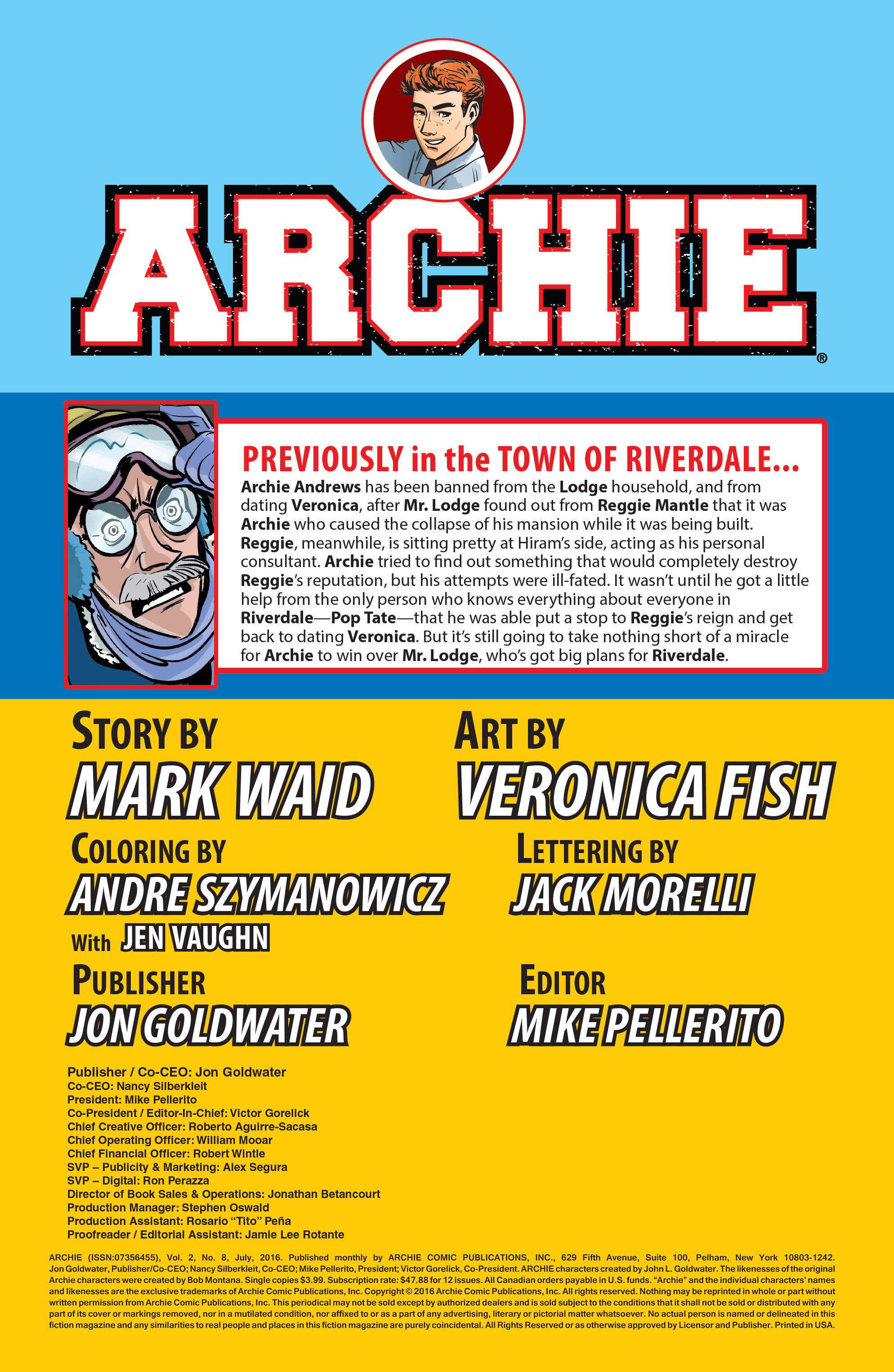 Read online Archie (2015) comic -  Issue #8 - 2