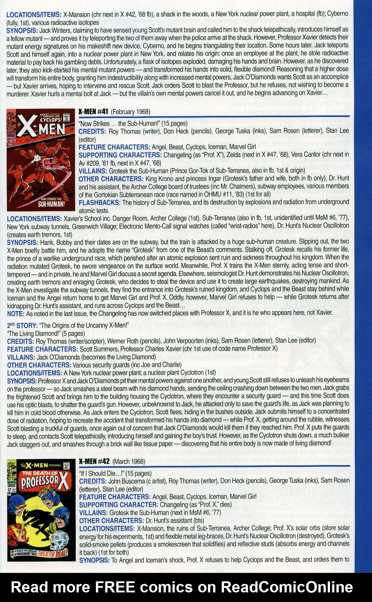 Read online Official Index to the Marvel Universe comic -  Issue #1 - 61
