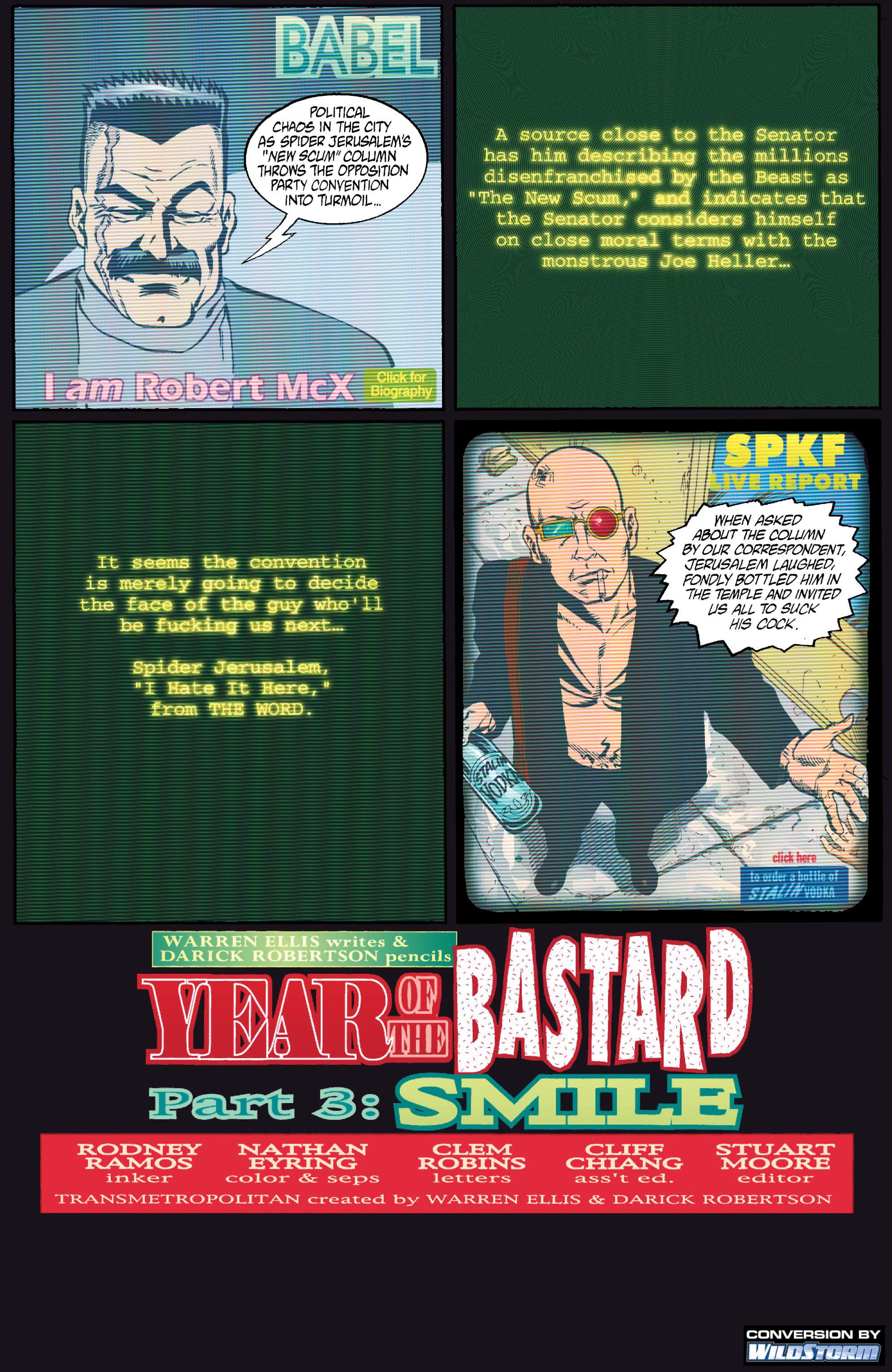 Read online Transmetropolitan comic -  Issue #15 - 2