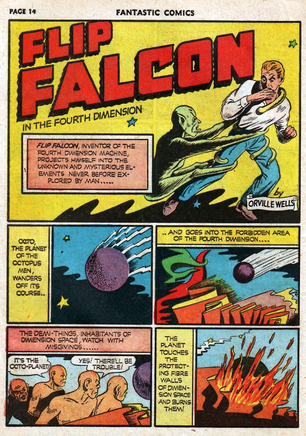Read online Fantastic Comics comic -  Issue #17 - 16
