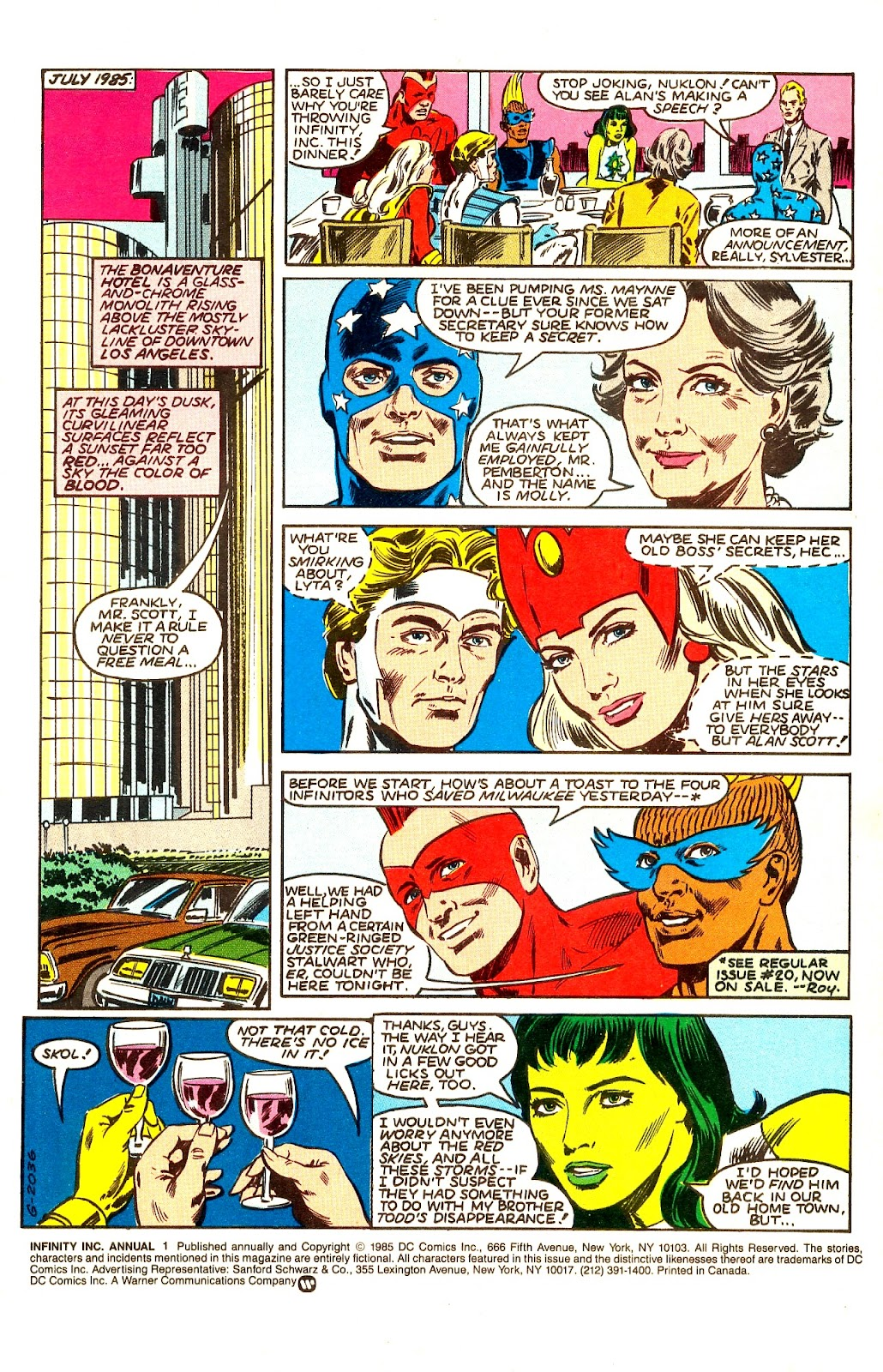 Infinity Inc. (1984) issue Annual 1 - Page 3