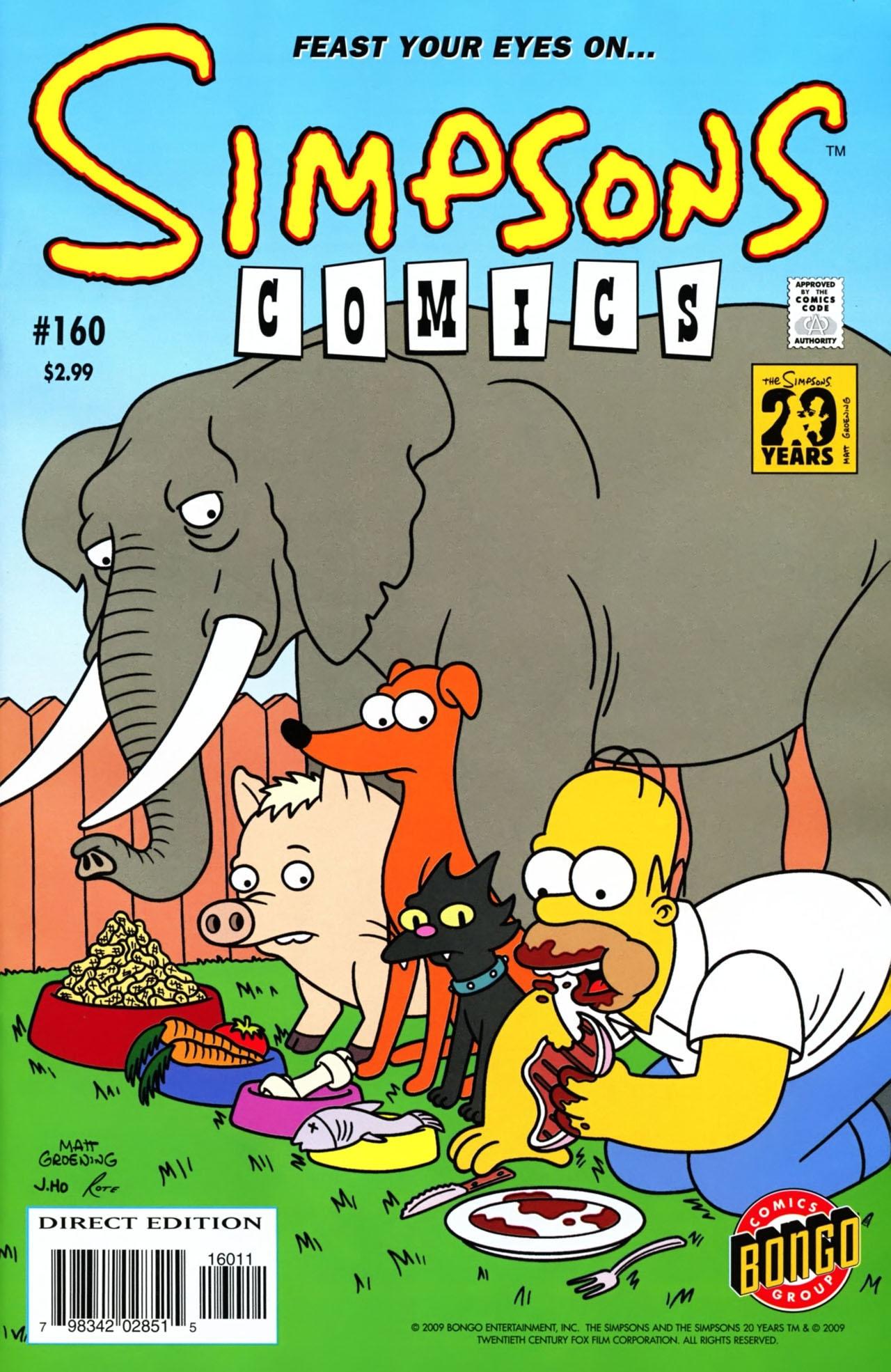 Read online Simpsons Comics comic -  Issue #160 - 1