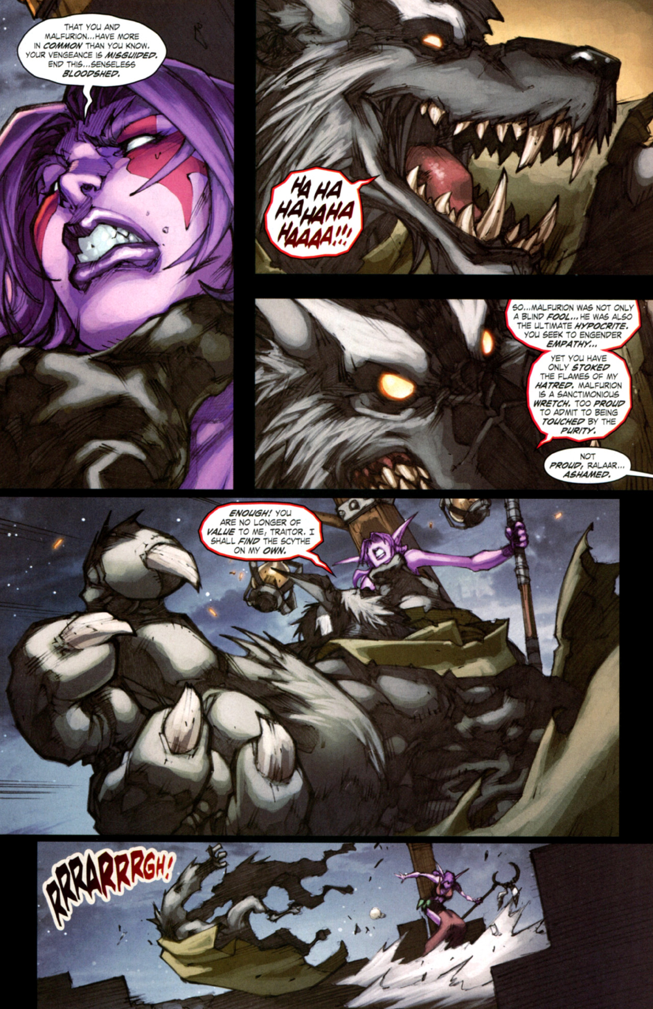 Read online World of Warcraft: Curse of the Worgen comic -  Issue #4 - 17