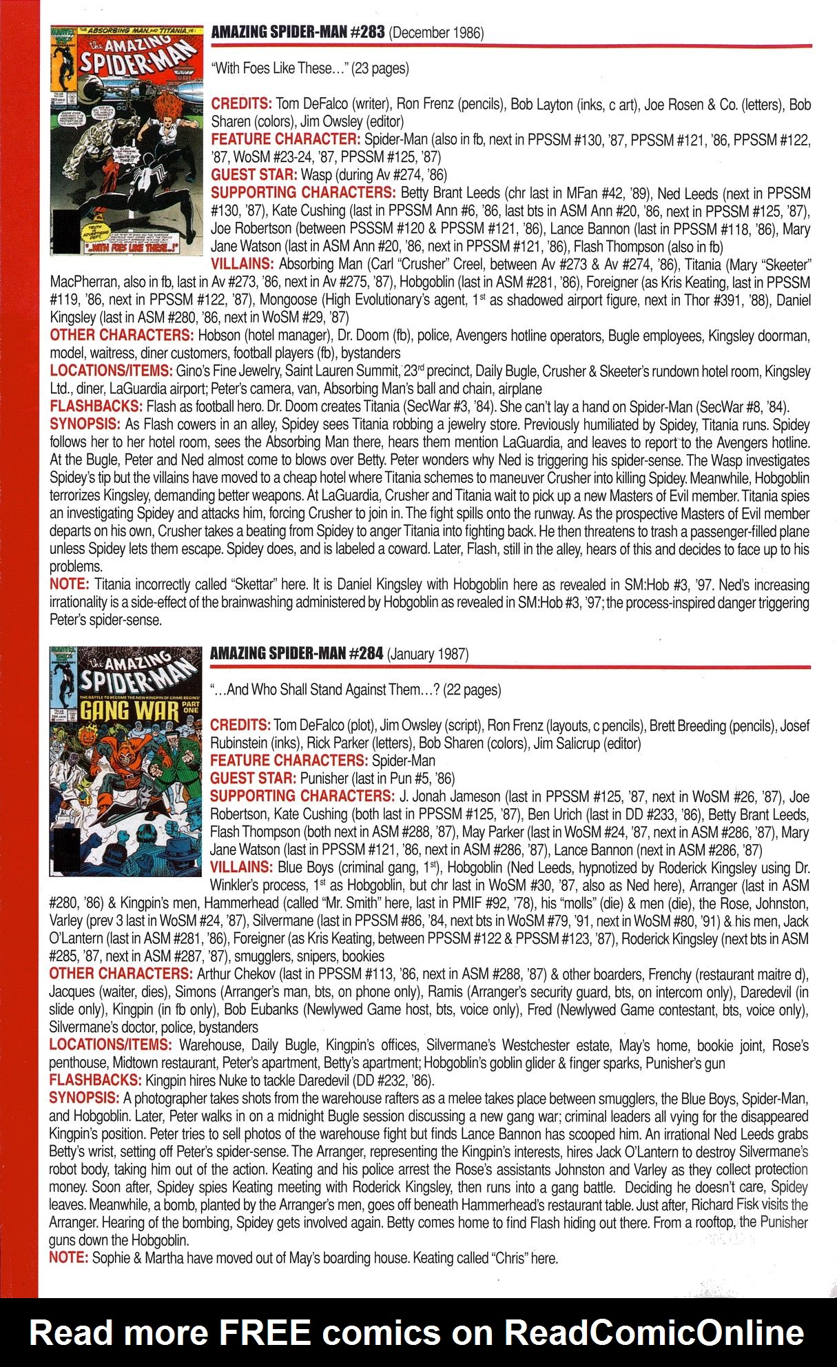 Read online Official Index to the Marvel Universe comic -  Issue #6 - 22