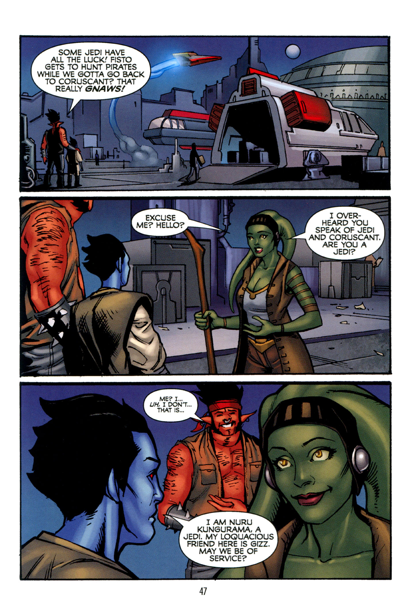 Read online Star Wars: The Clone Wars - Strange Allies comic -  Issue # Full - 48
