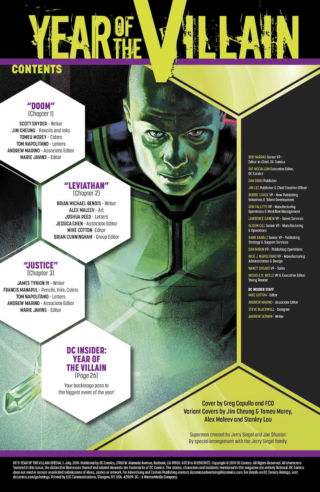 Read online DC's Year of the Villain Special comic -  Issue # Full - 2