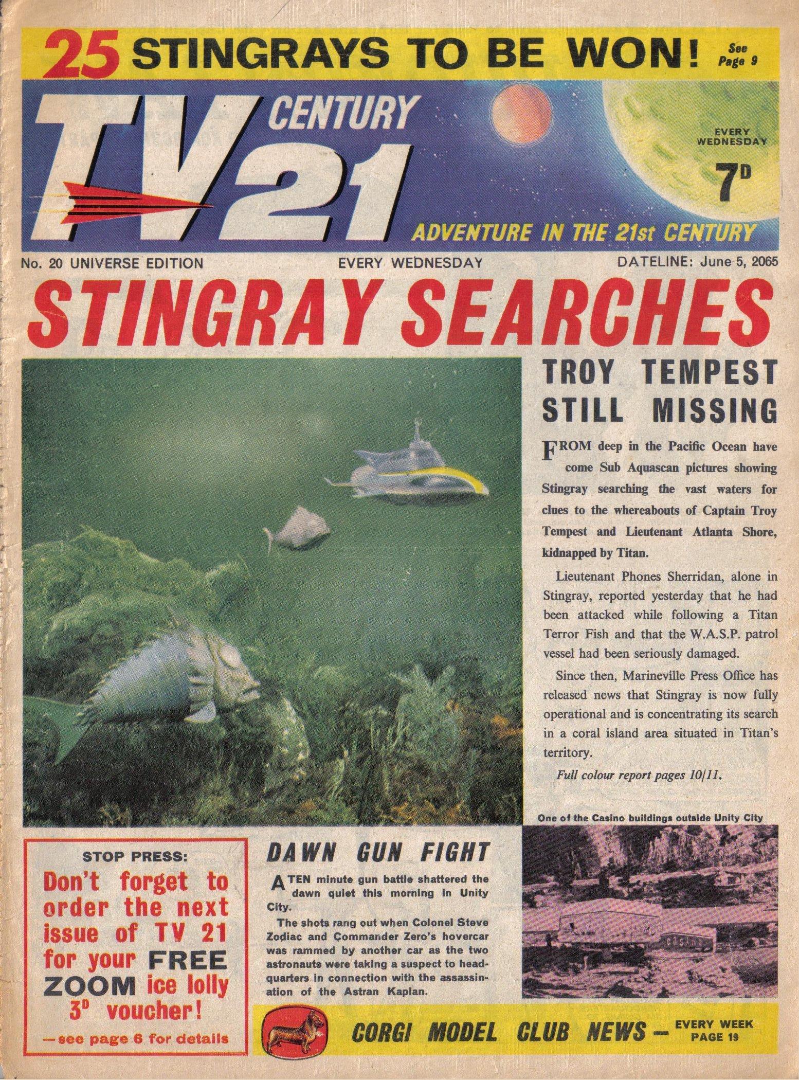 Read online TV Century 21 (TV 21) comic -  Issue #20 - 1