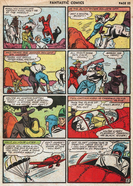 Read online Fantastic Comics comic -  Issue #18 - 37