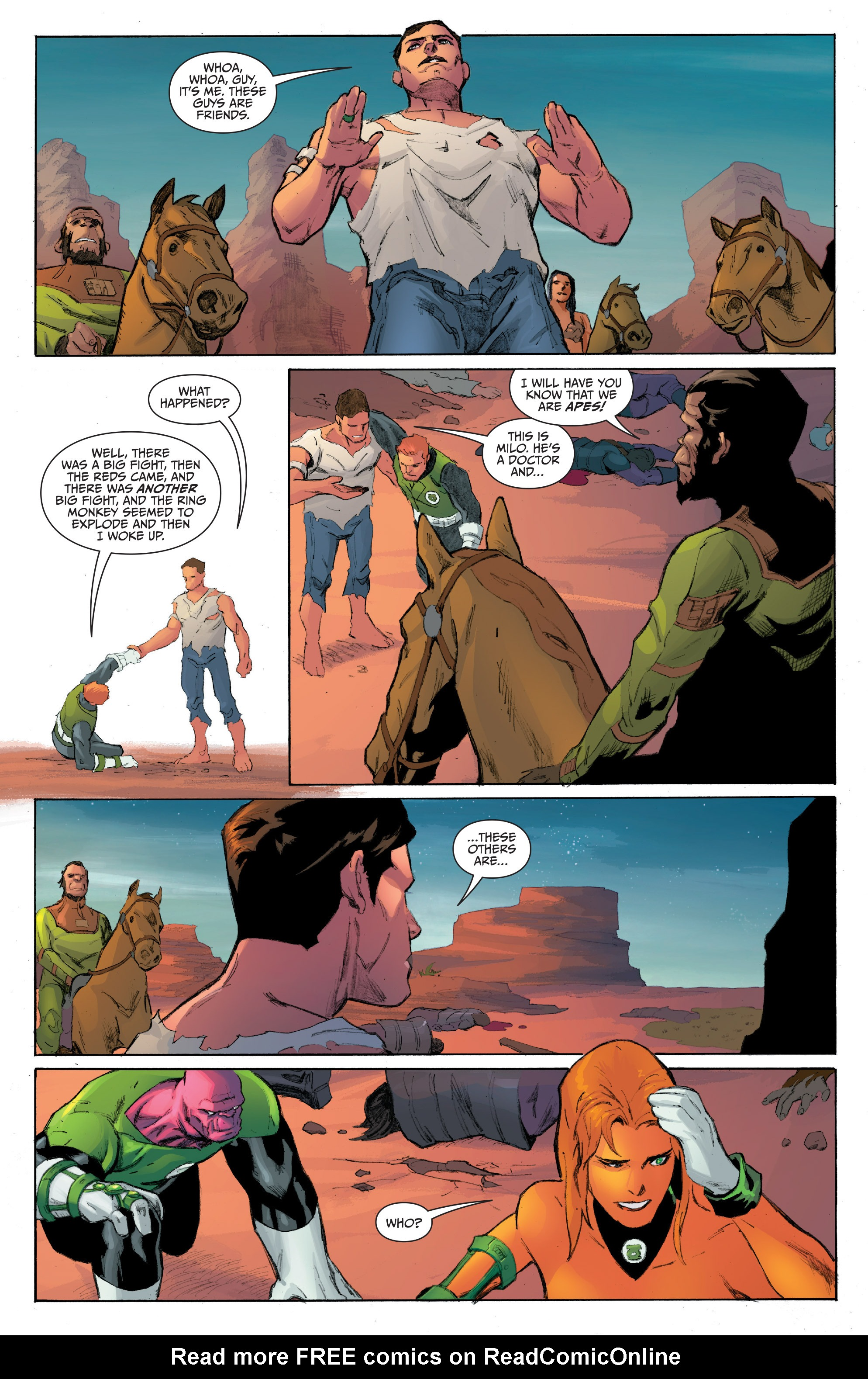 Read online Planet of the Apes/Green Lantern comic -  Issue #4 - 12